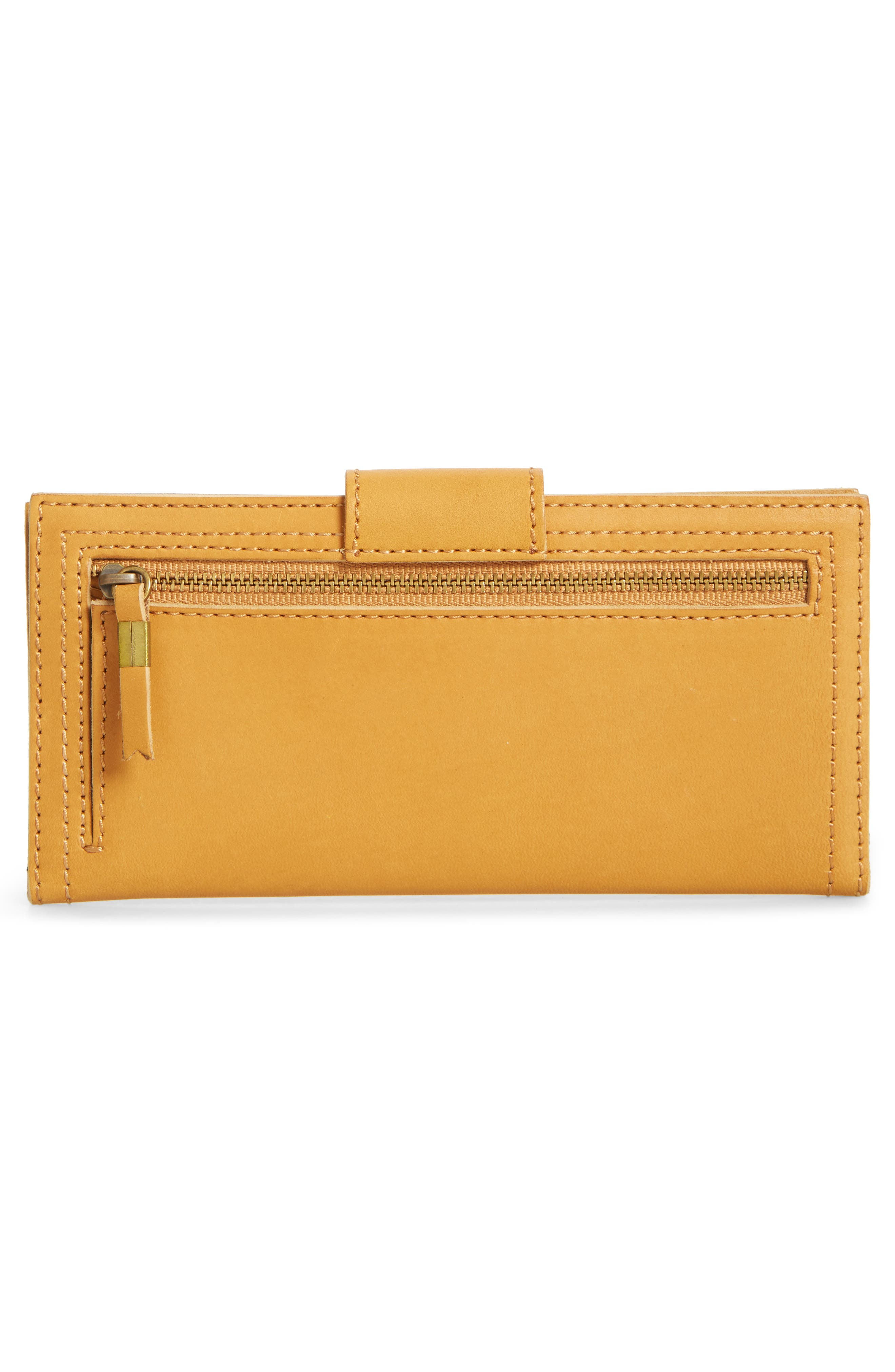 The Post Leather Wallet,                             Alternate thumbnail 4, color,                             Cider