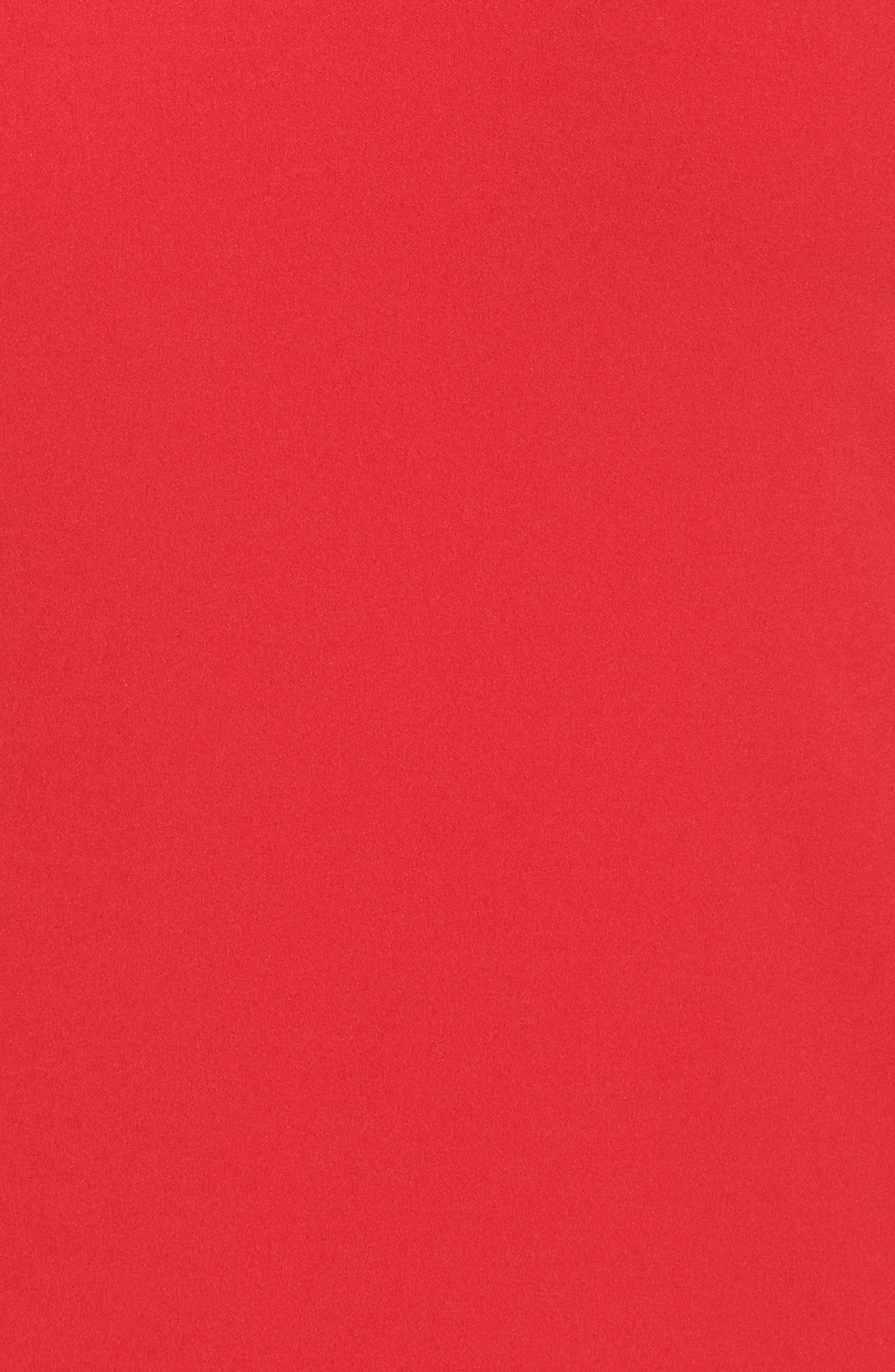 Bell Sleeve Shift Dress,                             Alternate thumbnail 6, color,                             Red