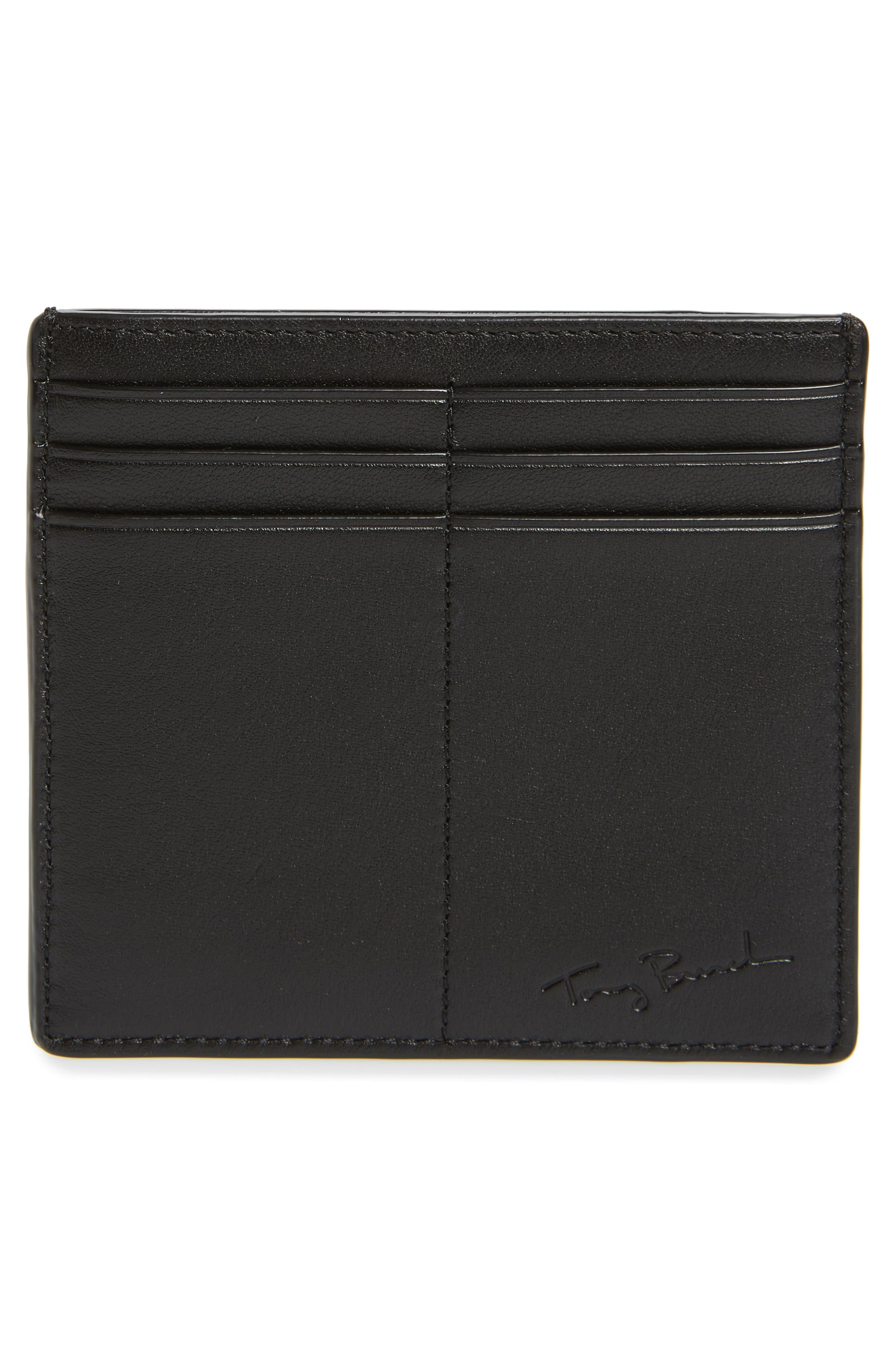 Alternate Image 2  - Tory Burch Martini Appliqué Leather Card Case