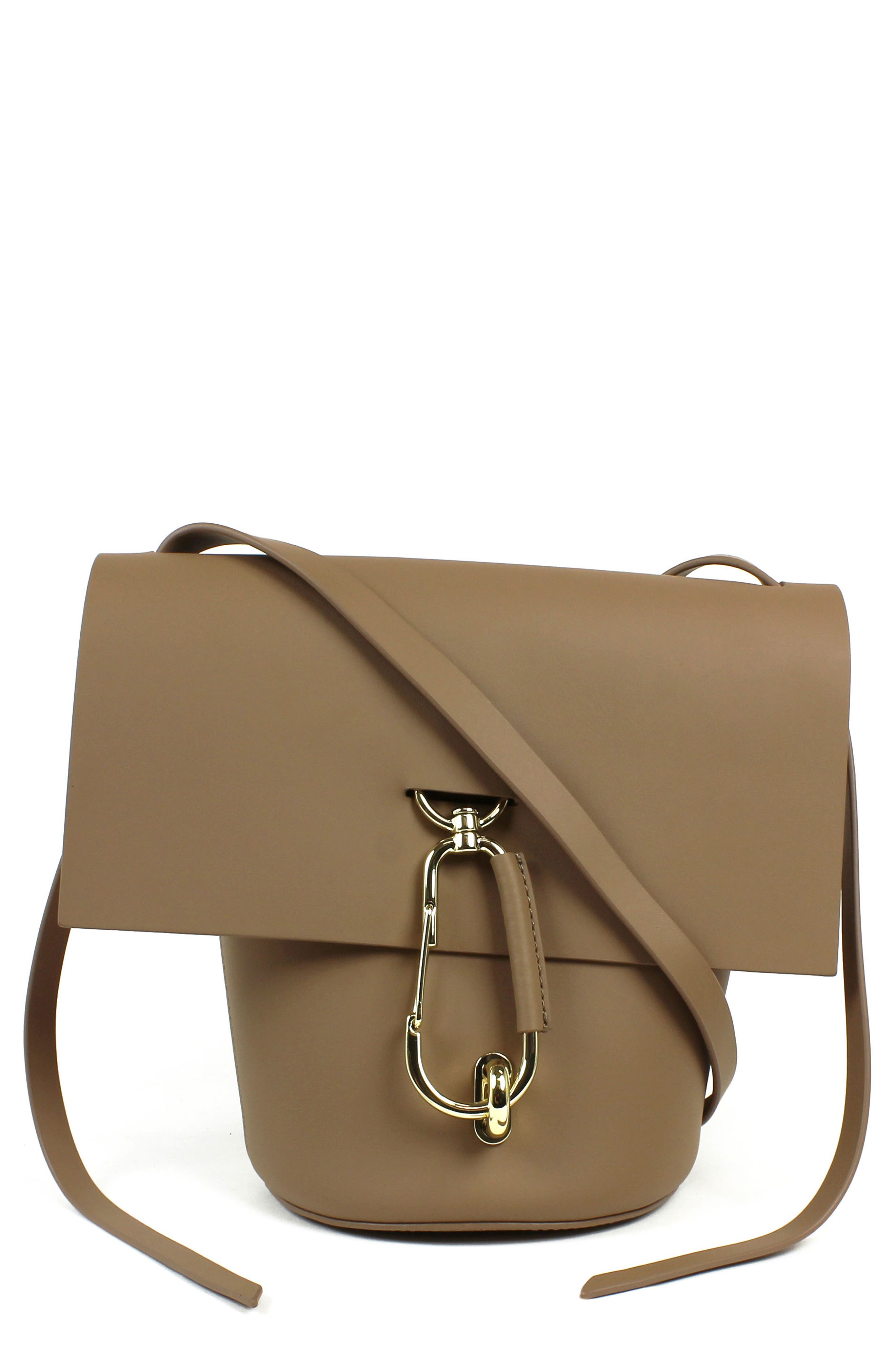 Belay Leather Bucket Bag,                         Main,                         color, Seagull