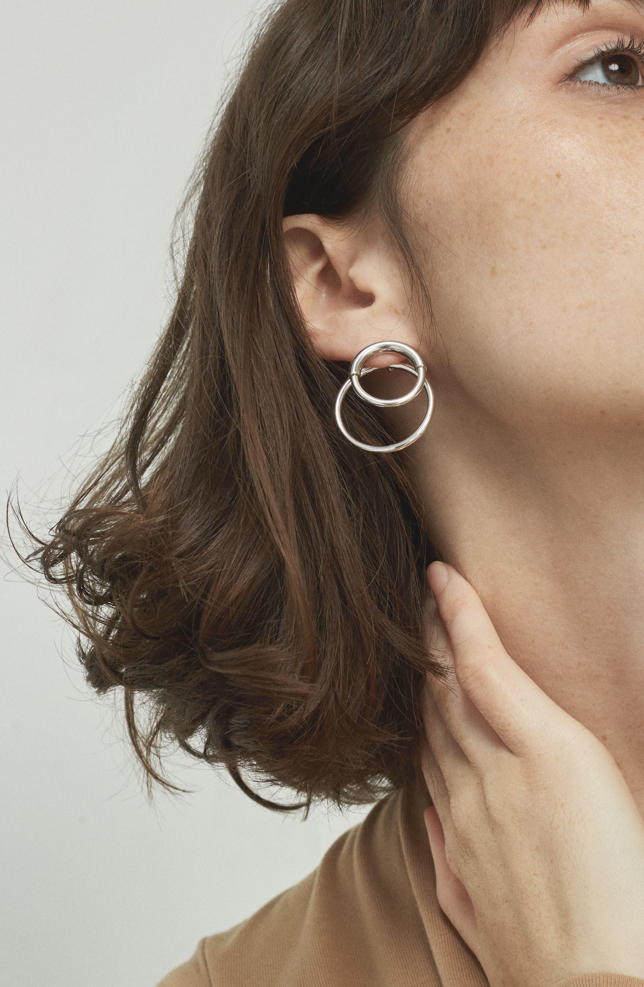 Ossie Drop Back Hoop Earrings,                             Alternate thumbnail 6, color,