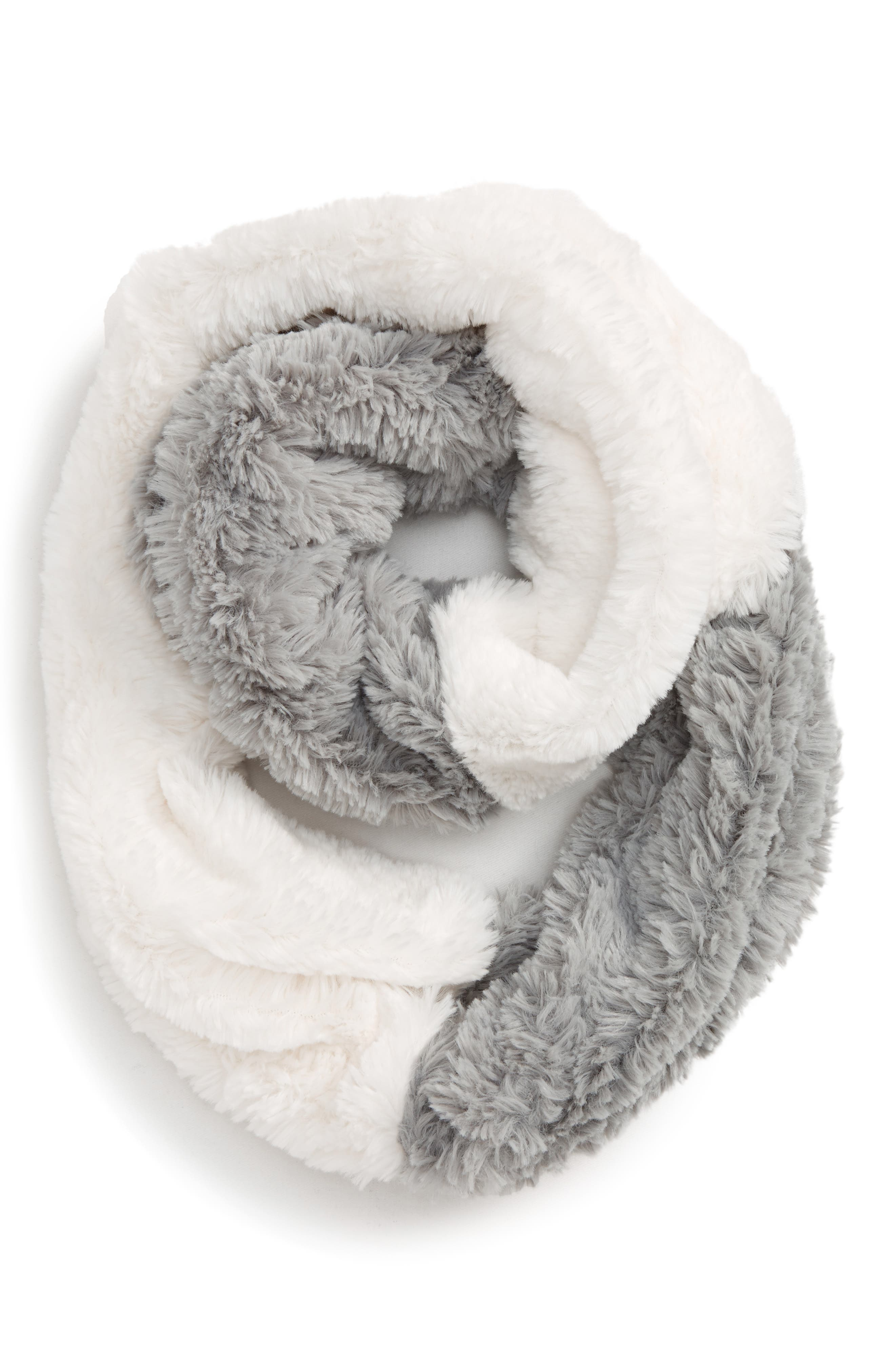 Tucker + Tate Color Block Faux Fur Infinity Scarf (Big Girls)
