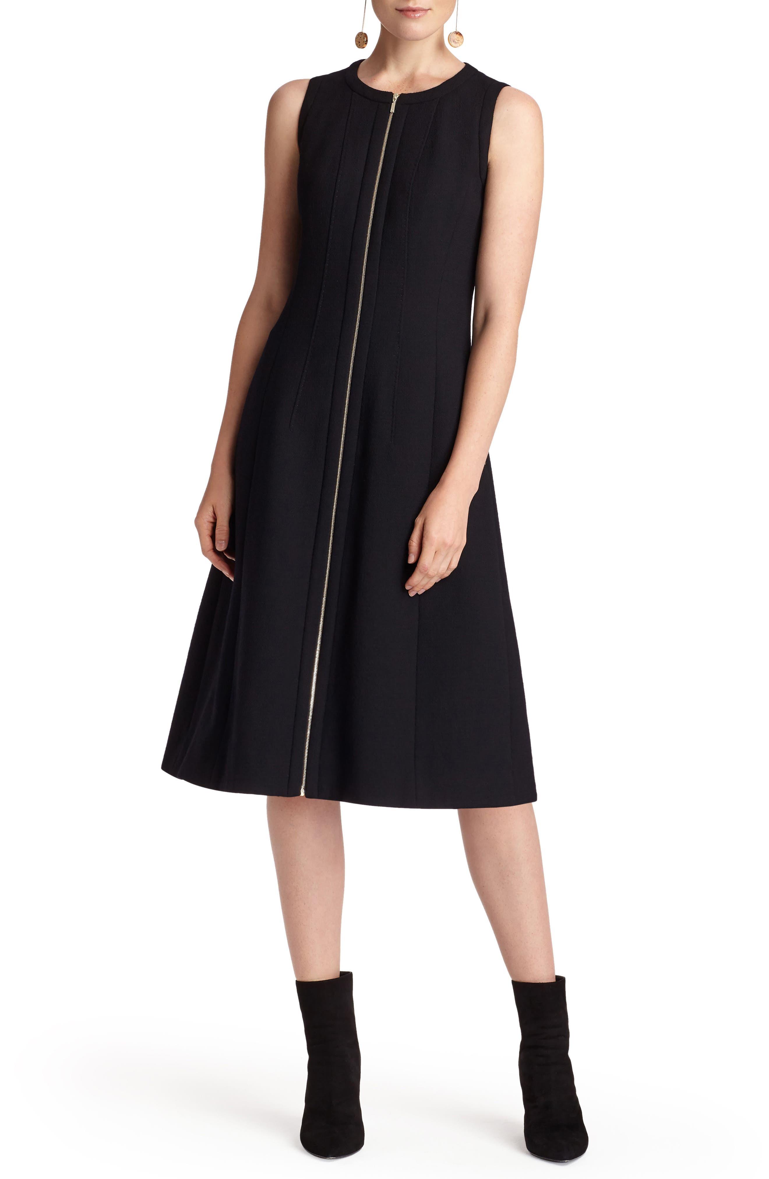 Celinda Nouveau Crepe Dress,                             Alternate thumbnail 5, color,                             Black