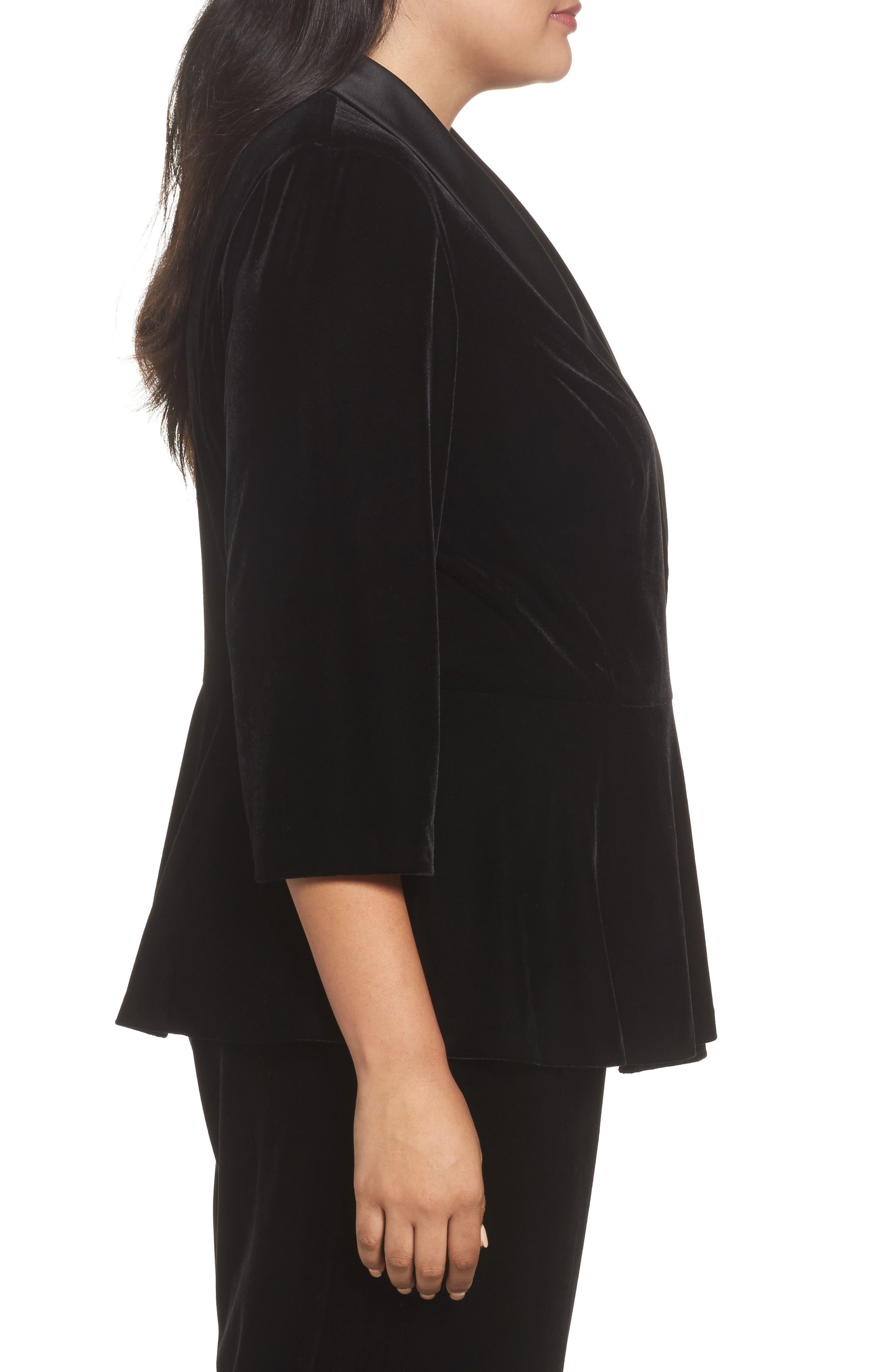 Alternate Image 3  - Alex Evenings Stretch Velvet Blouse (Plus Size)