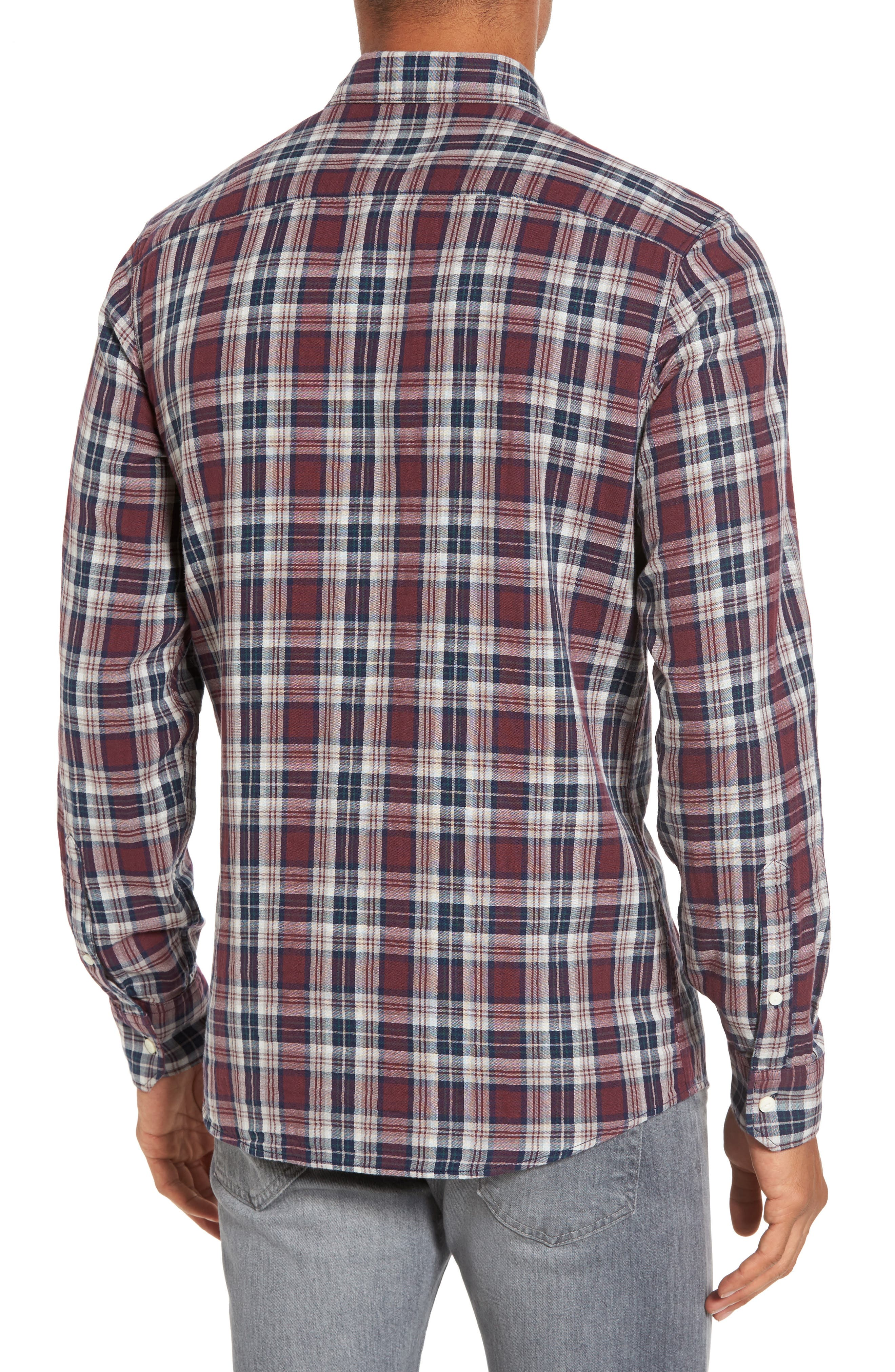 Alternate Image 2  - Nordstrom Men's Shop Lumber Duofold Slim Fit Plaid Shirt