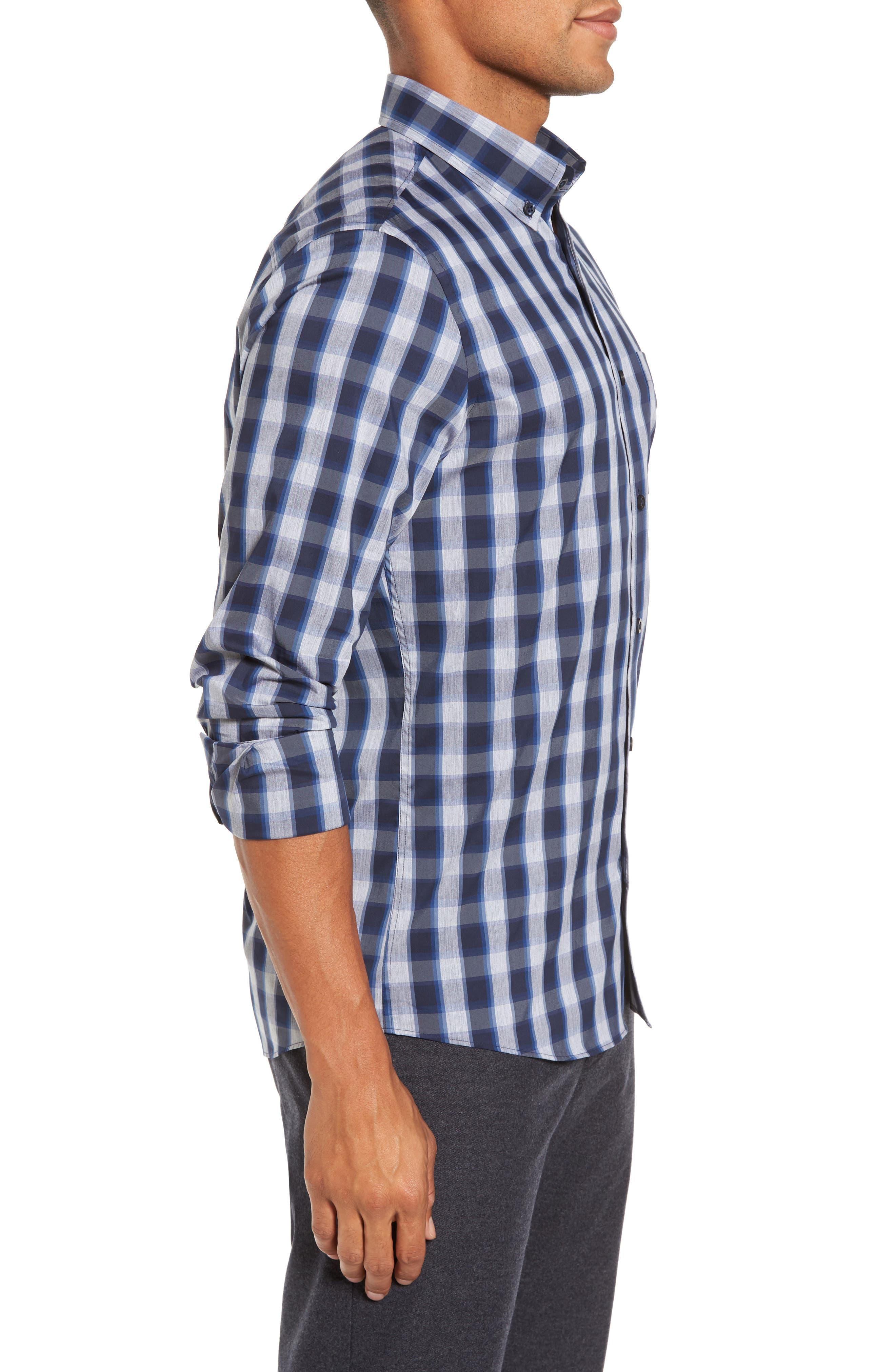 Alternate Image 3  - Nordstrom Men's Shop Spade Tech-Smart Trim Fit Check Sport Shirt