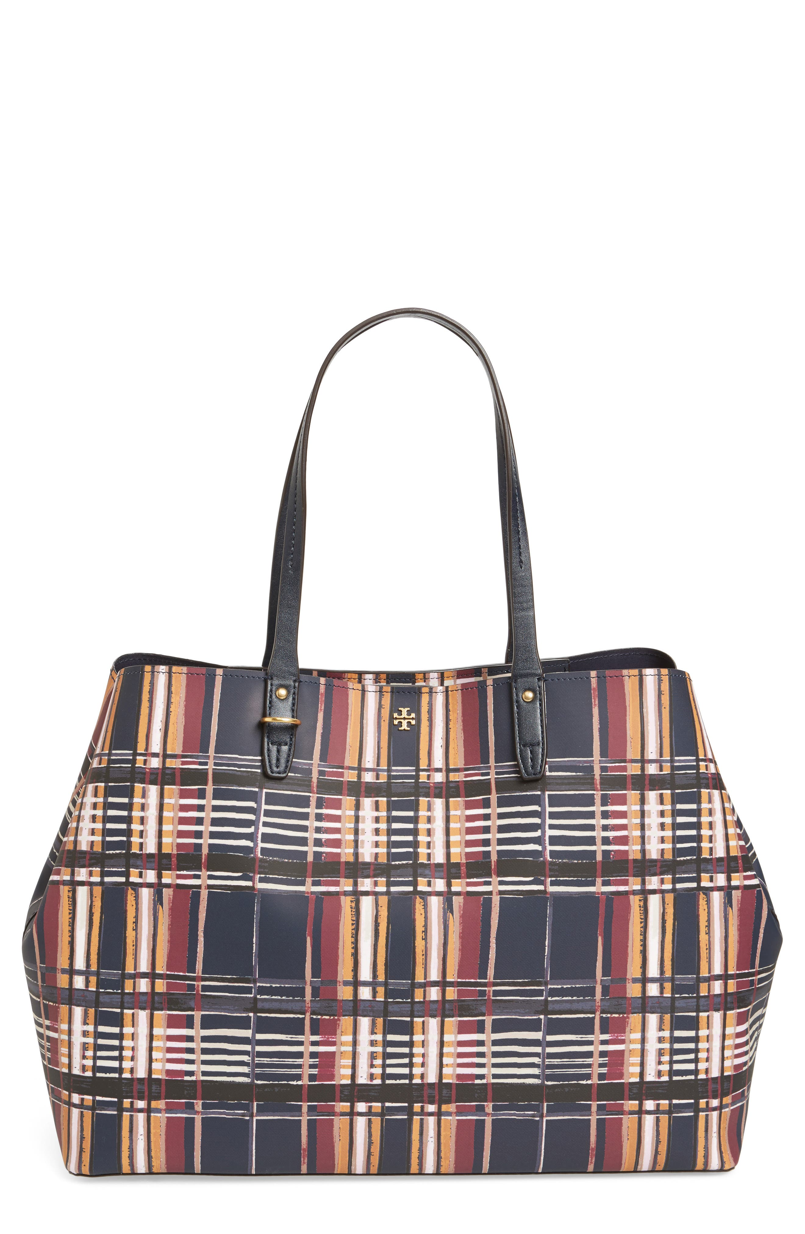 Alternate Image 1 Selected - Tory Burch Kerrington Square Coated Canvas Tote