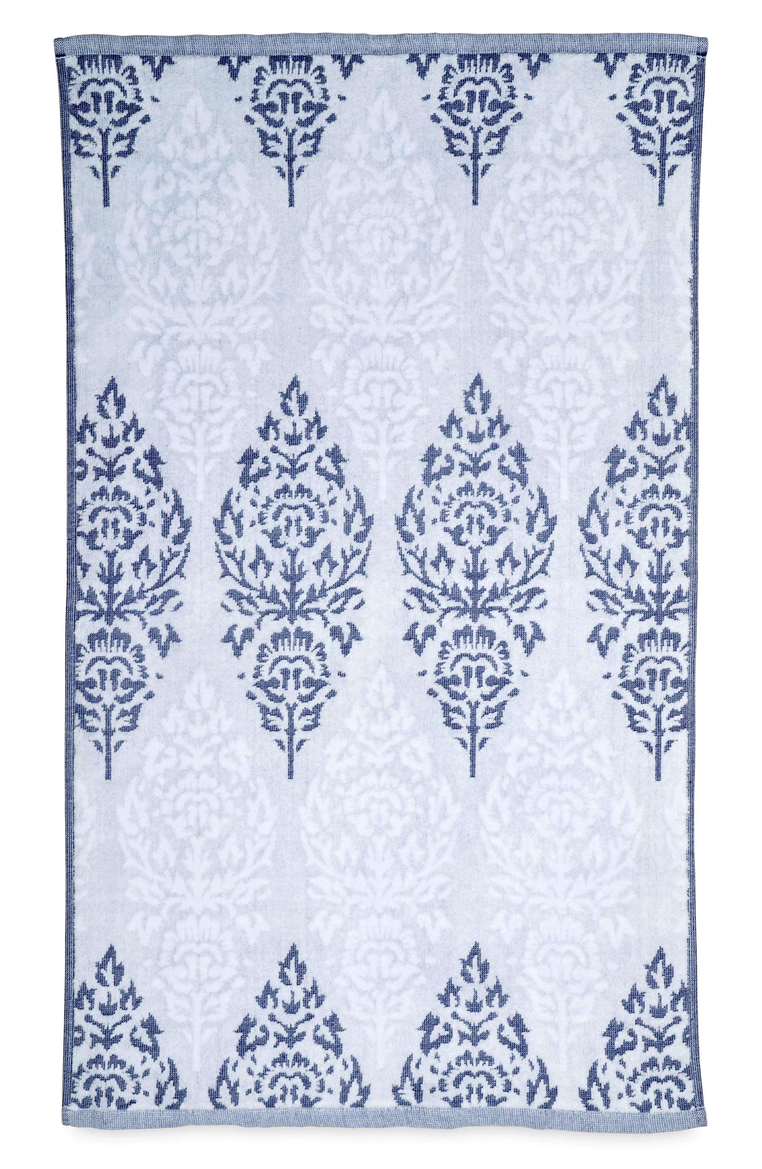 Jalati Hand Towel,                             Main thumbnail 1, color,                             Indigo