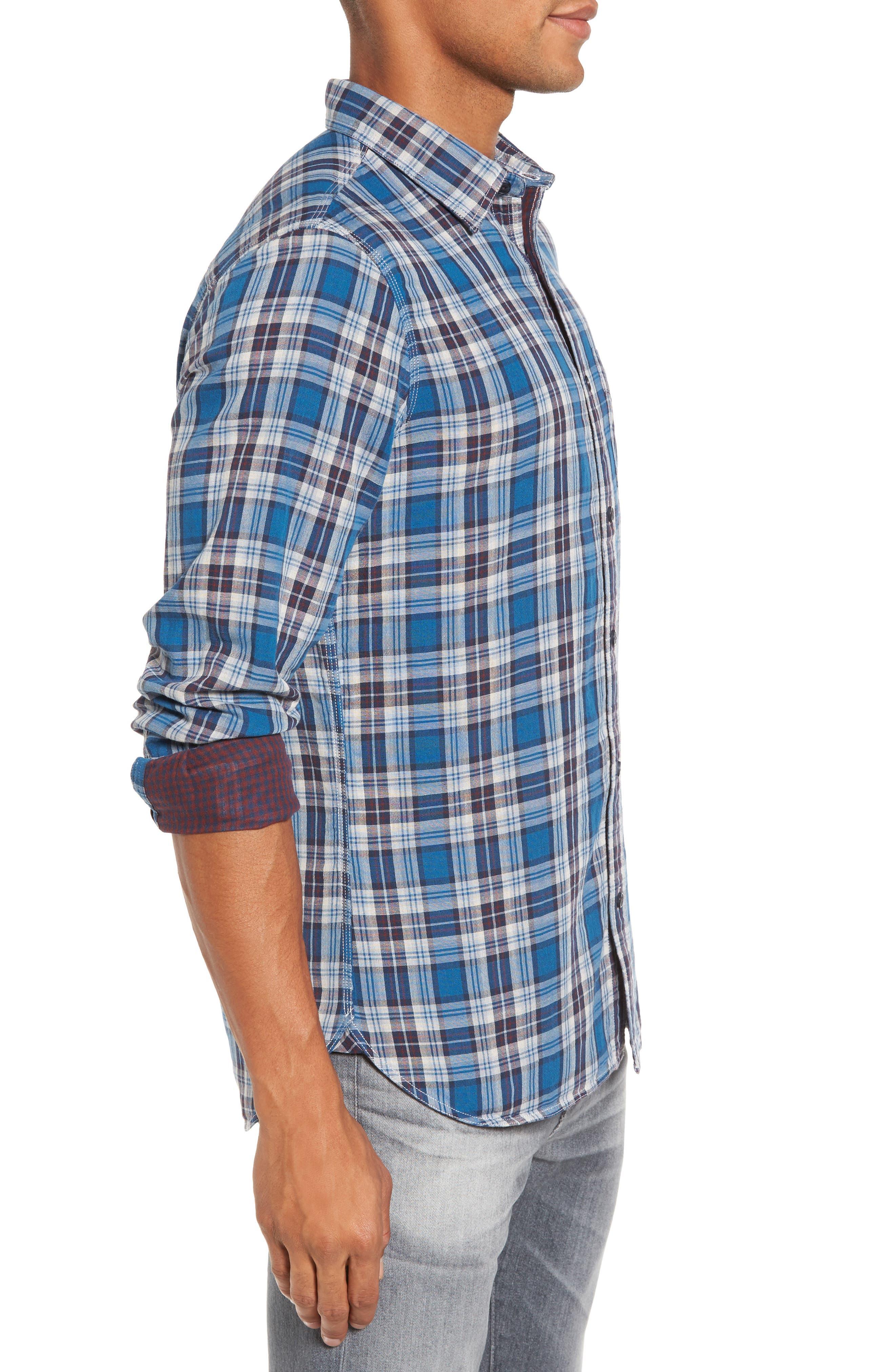 Alternate Image 3  - Nordstrom Men's Shop Workwear Duofold Plaid Sport Shirt