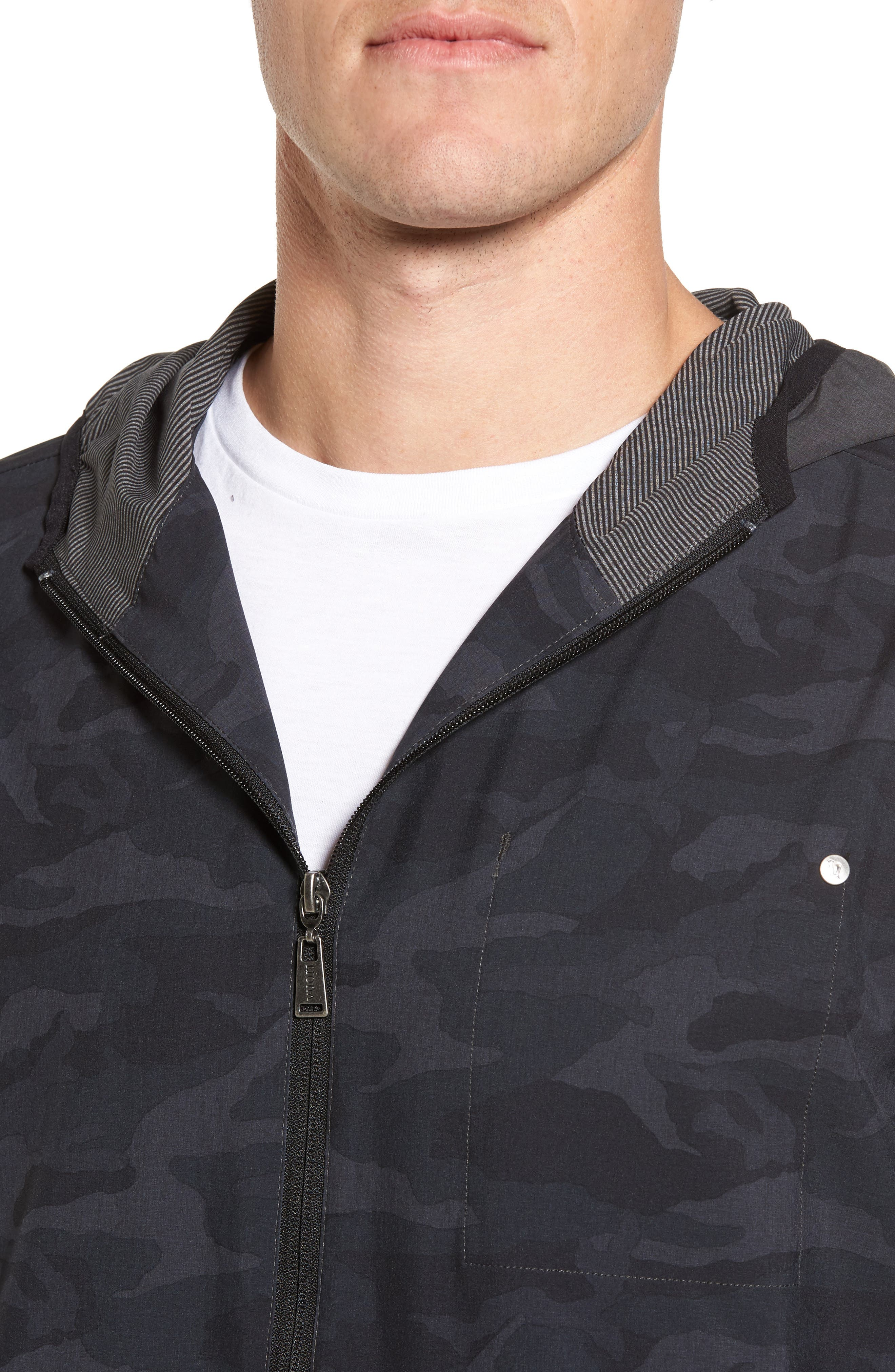 Outdoor Training Shell Jacket,                             Alternate thumbnail 4, color,                             Black Camo