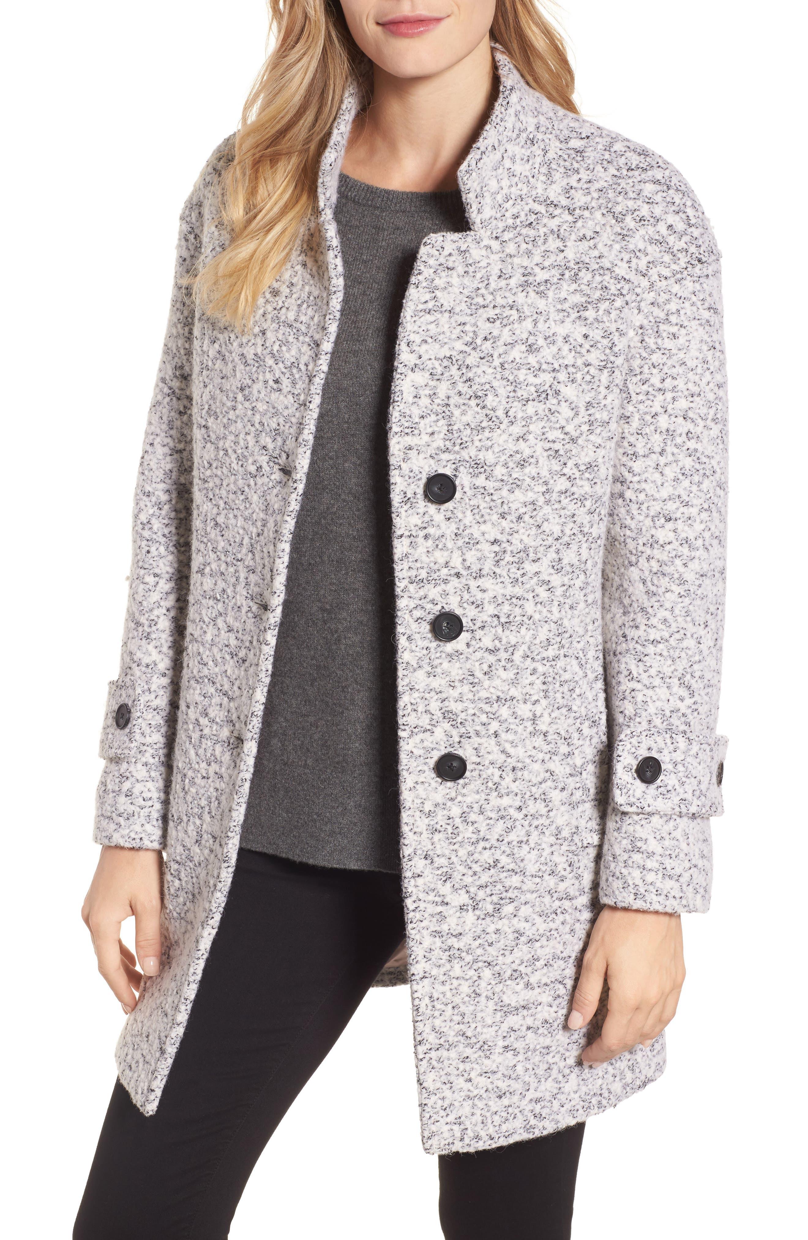 Boiled Wool Coat,                         Main,                         color, Light Grey