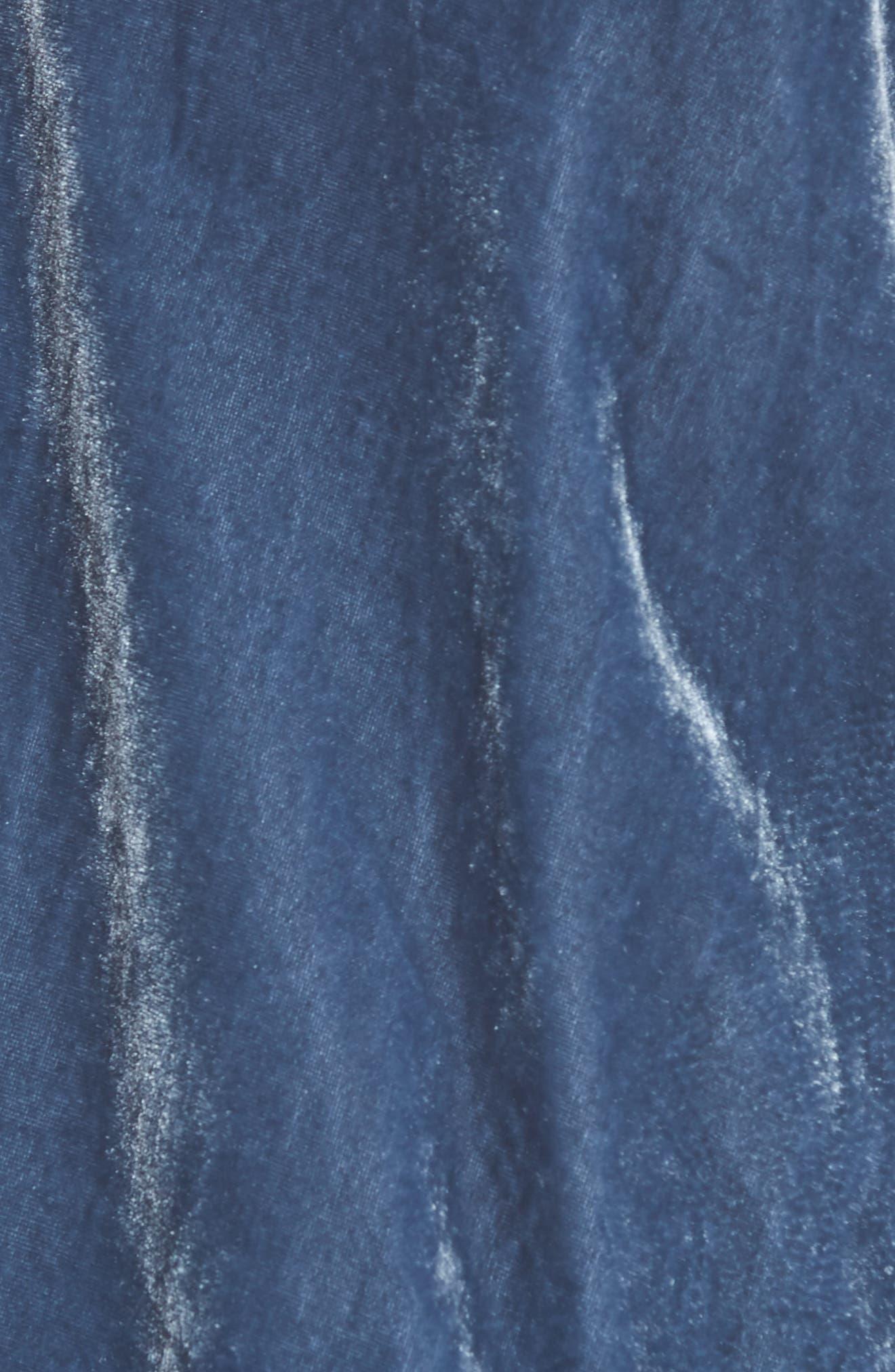 Zipper Velvet Sweatshirt,                             Alternate thumbnail 5, color,                             Splatter Blue