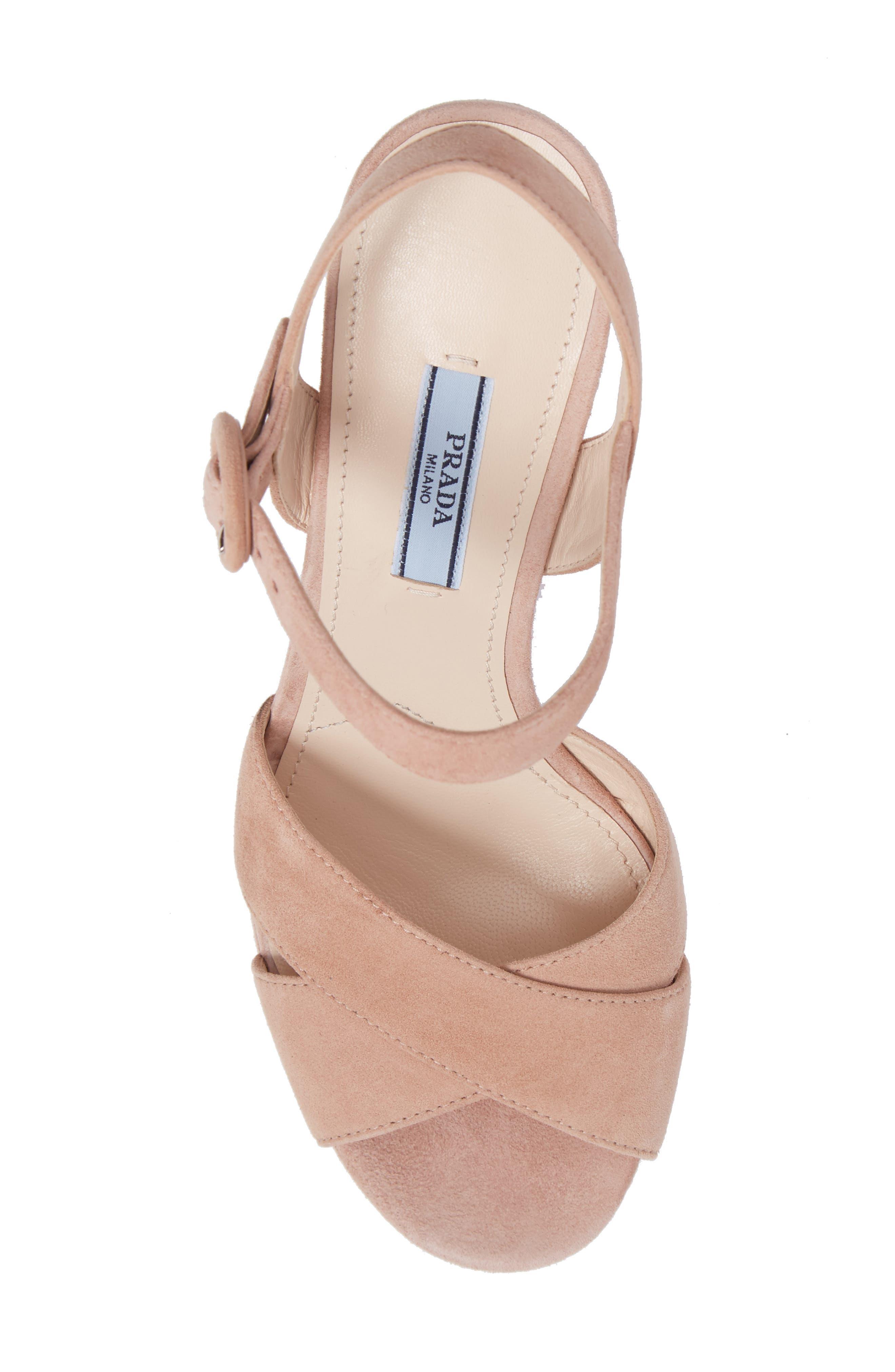 Alternate Image 5  - Prada Block Heel Platform Sandal (Women)