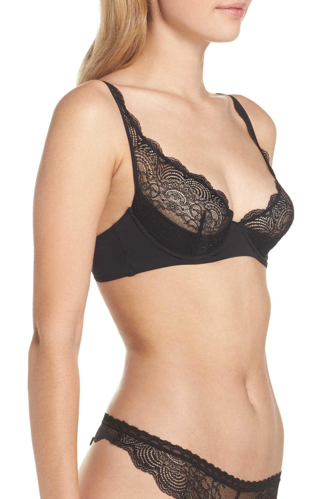 Alternate Image 3  - Maison Close Underwire Lace Quarter Cup Bra