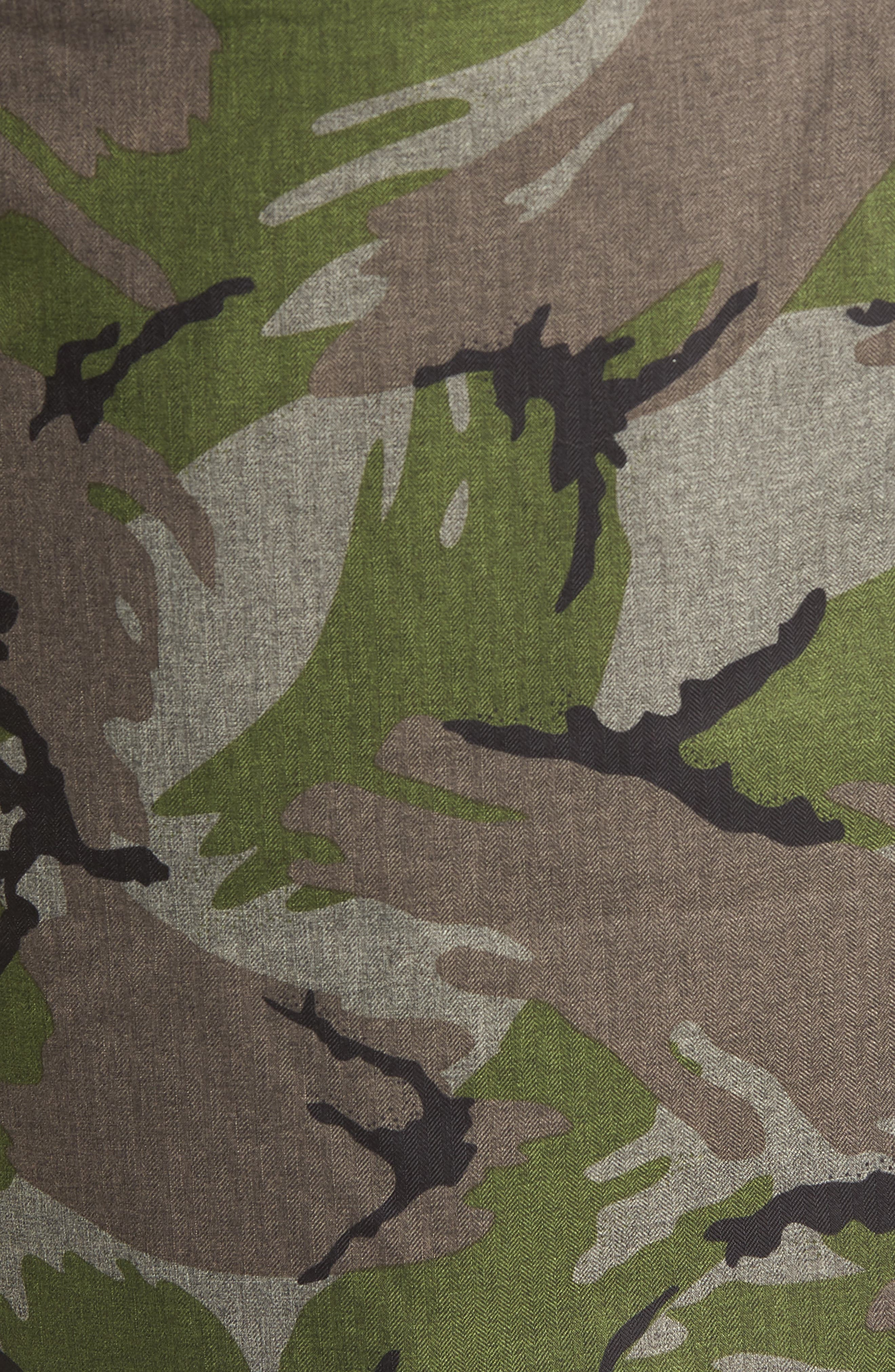 Outer Boroughs 3-in-1 TriClimate<sup>®</sup> Waterproof Jacket with Faux Fur Trim,                             Alternate thumbnail 6, color,                             Burnt Olive Green Disrupt Camo