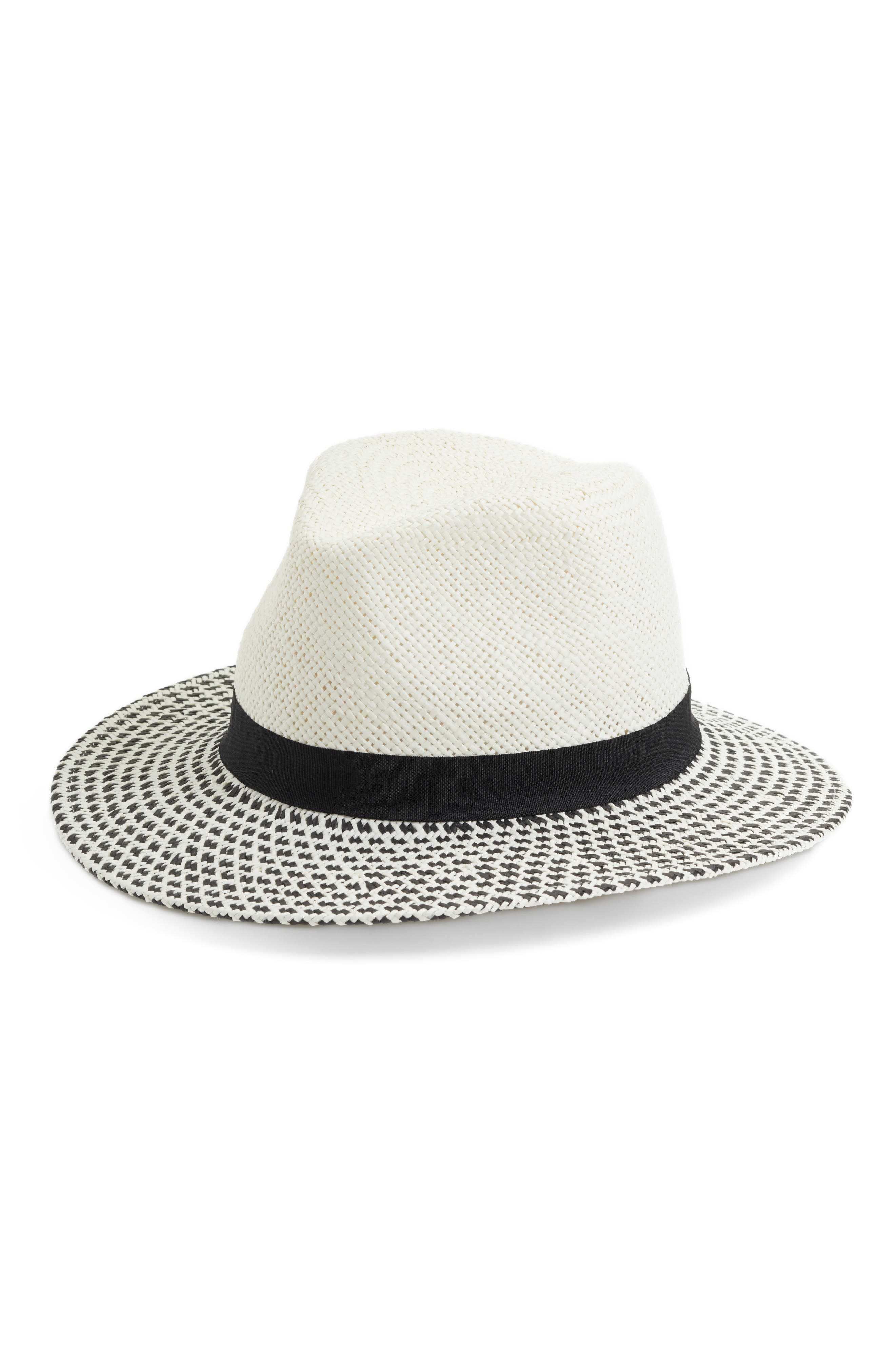 Modern Panama Hat,                             Main thumbnail 1, color,                             Ivory Combo
