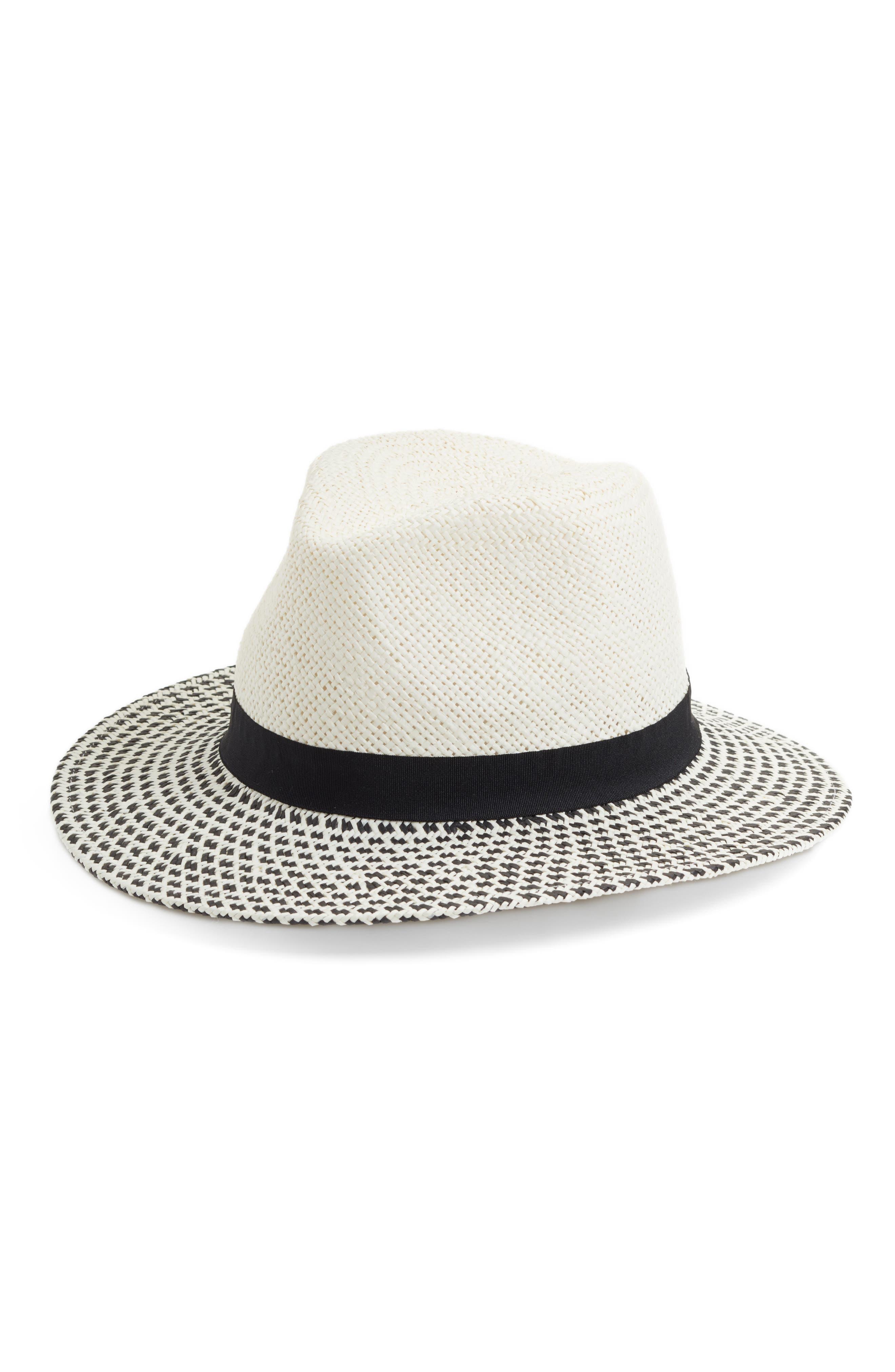 Modern Panama Hat,                         Main,                         color, Ivory Combo