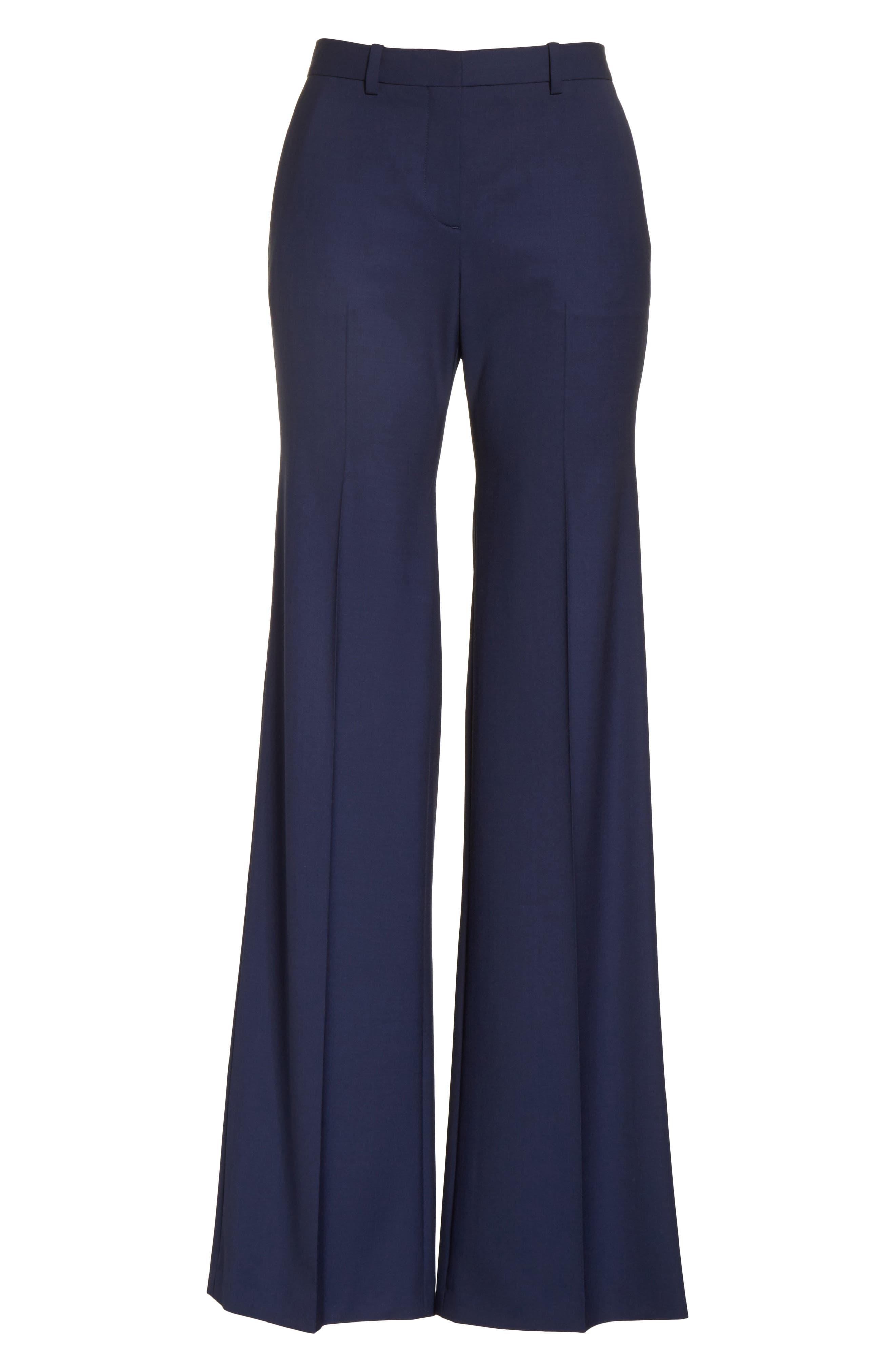 Alternate Image 7  - Theory Demetria 2 Flare Leg Good Wool Suit Pants