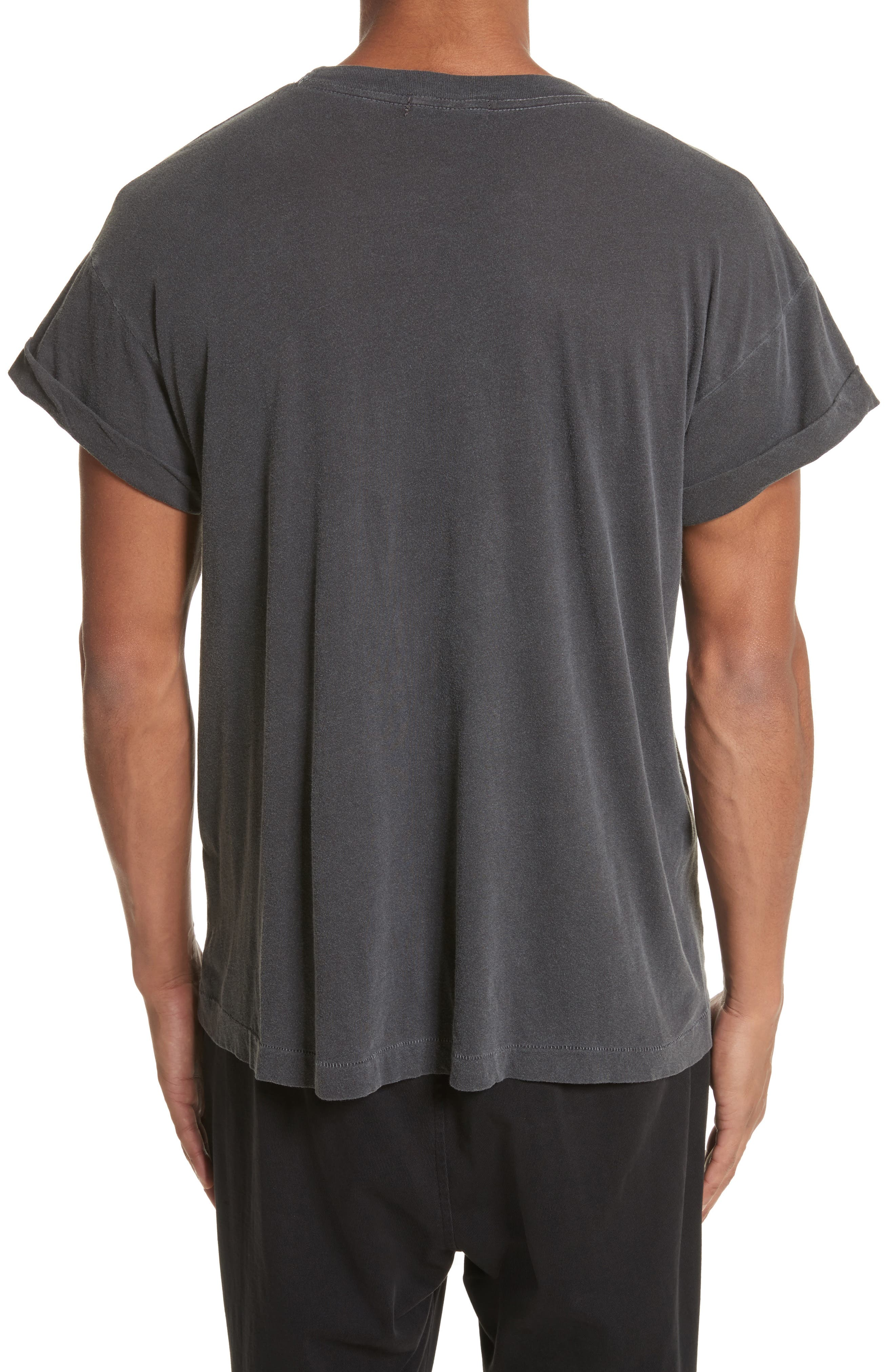 Abassi Embroidered T-Shirt,                             Alternate thumbnail 2, color,                             Blk Pigment