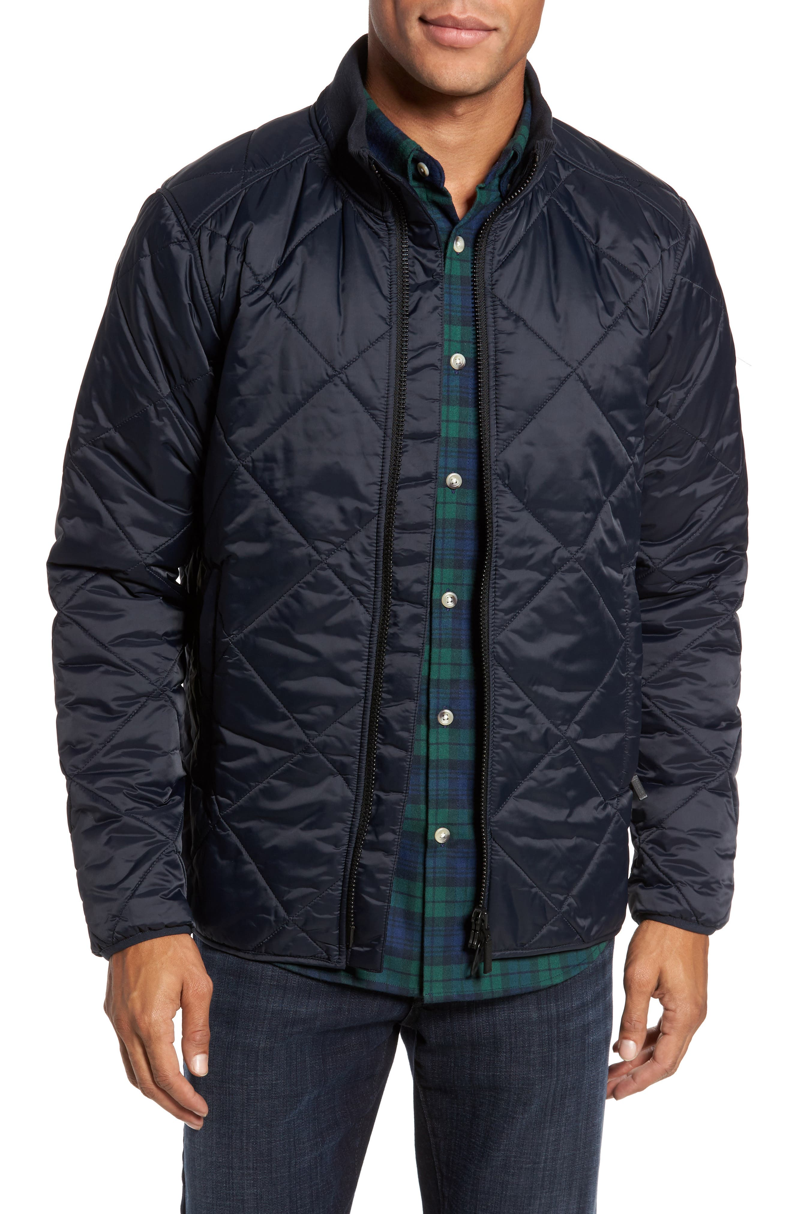 International Gabion Quilted Jacket,                         Main,                         color, Navy