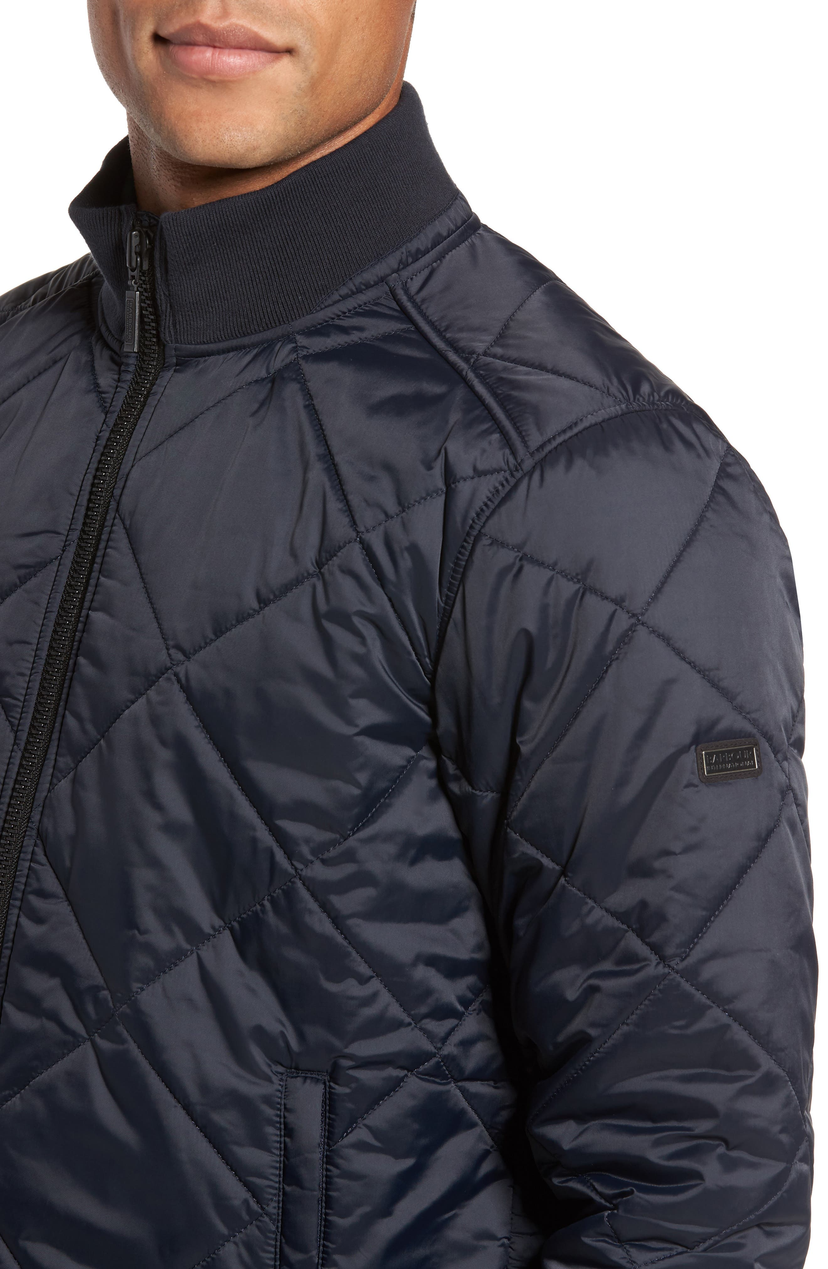 International Gabion Quilted Jacket,                             Alternate thumbnail 4, color,                             Navy
