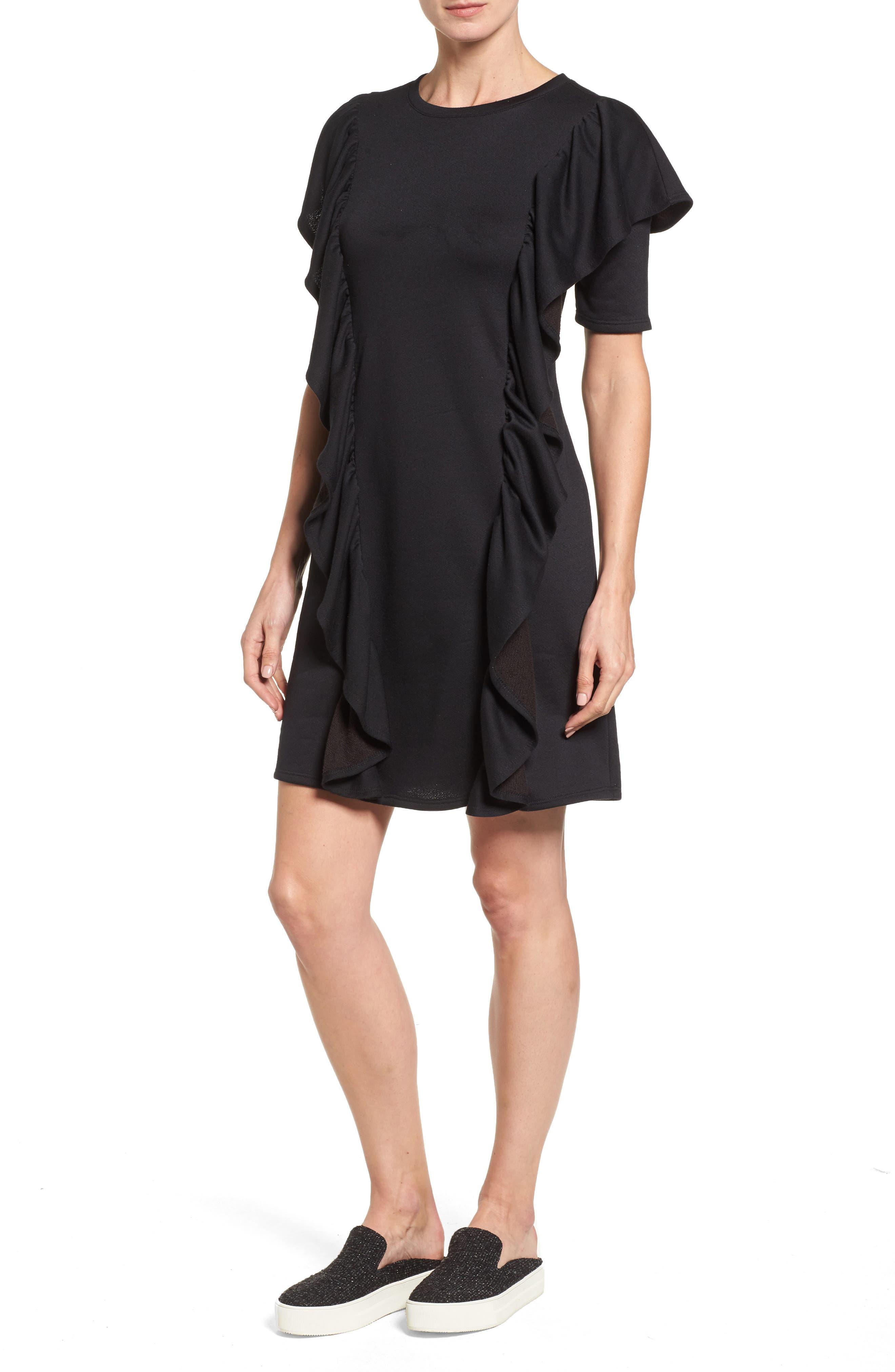 Halogen® Ruffle Sweatshirt Dress