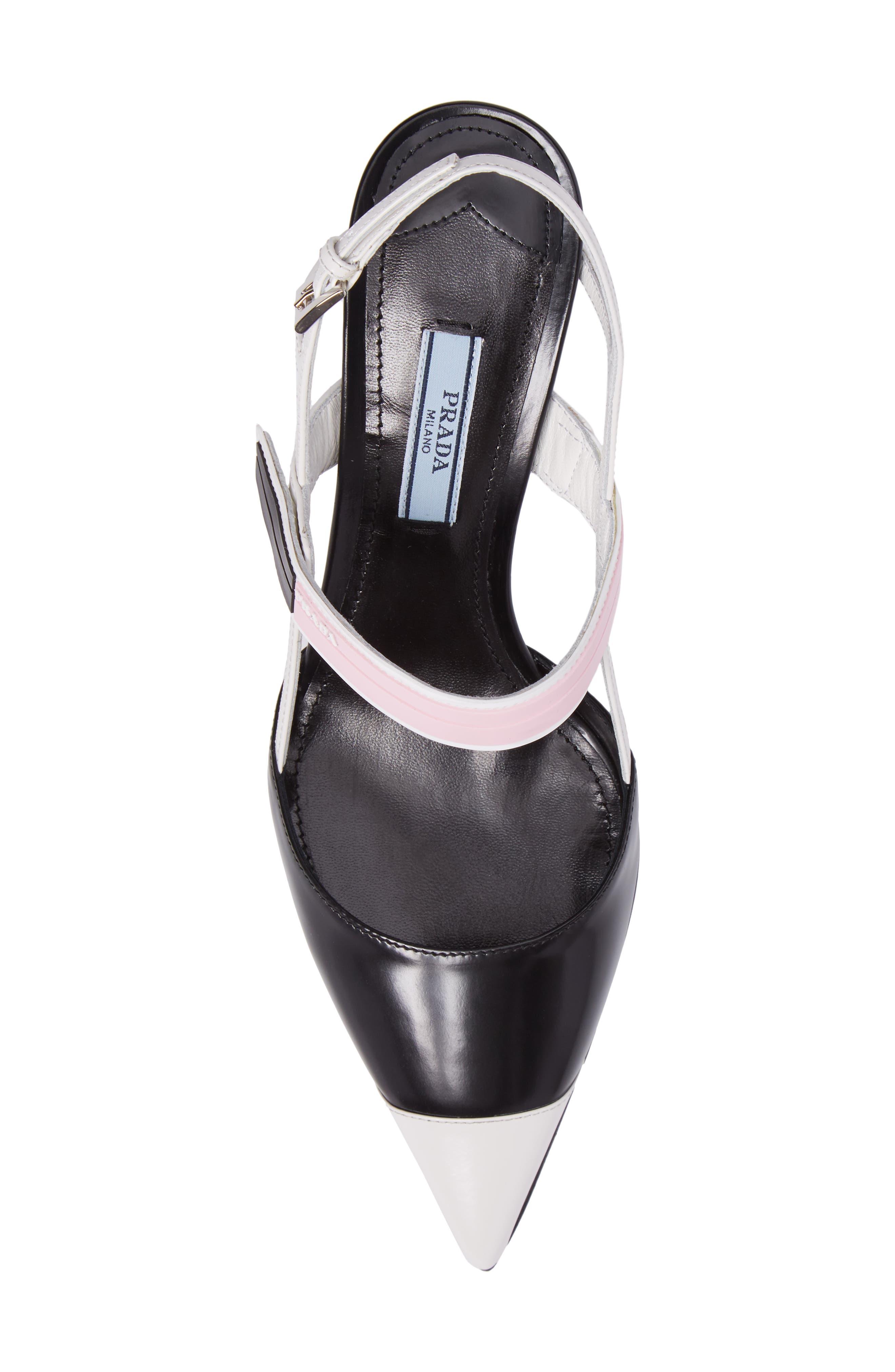 Alternate Image 5  - Prada Pointy Toe Strap Pump (Women)
