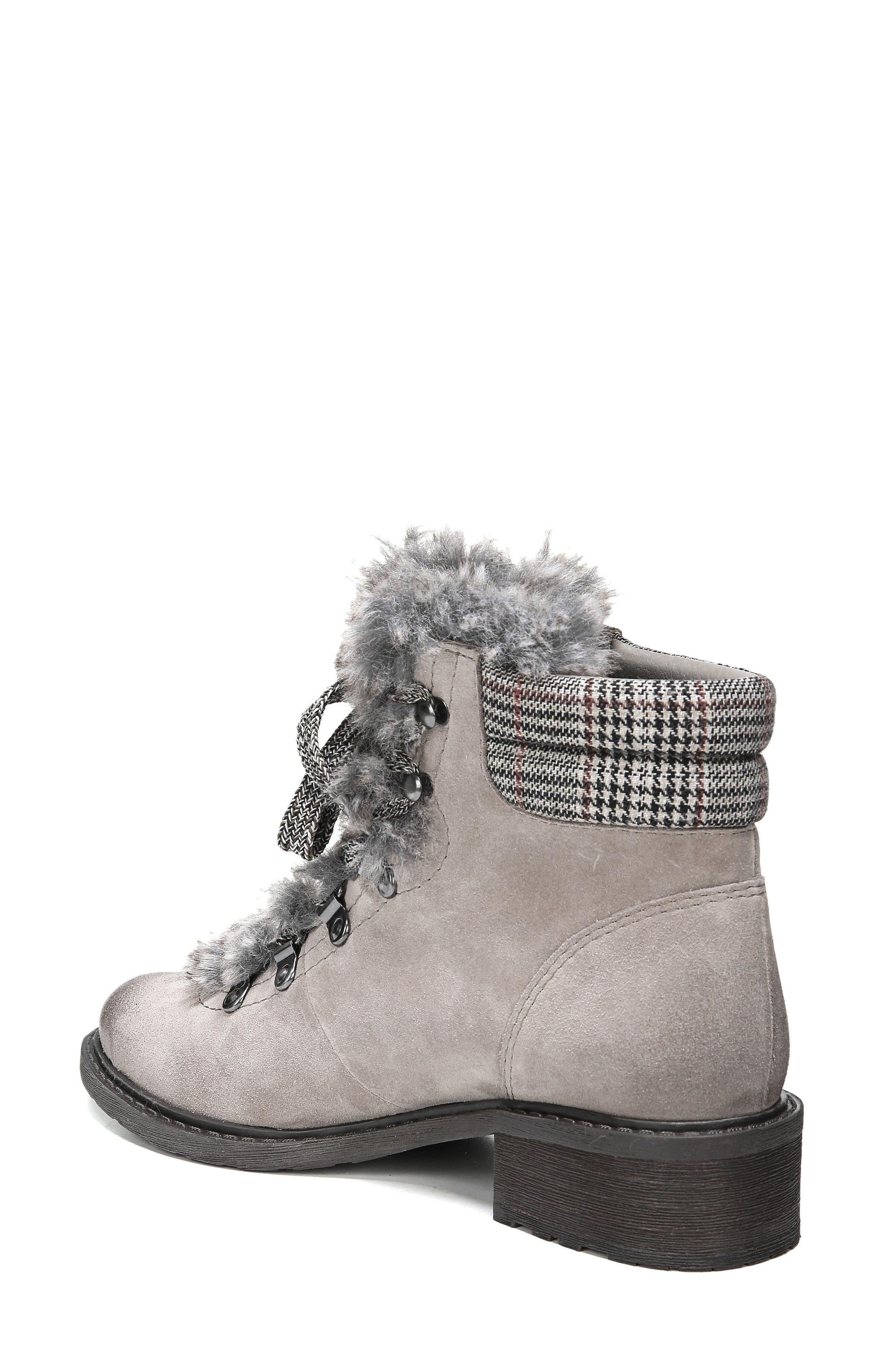 Darrah 2 Faux Fur Trim Boot,                             Alternate thumbnail 2, color,                             Grey Multi Suede