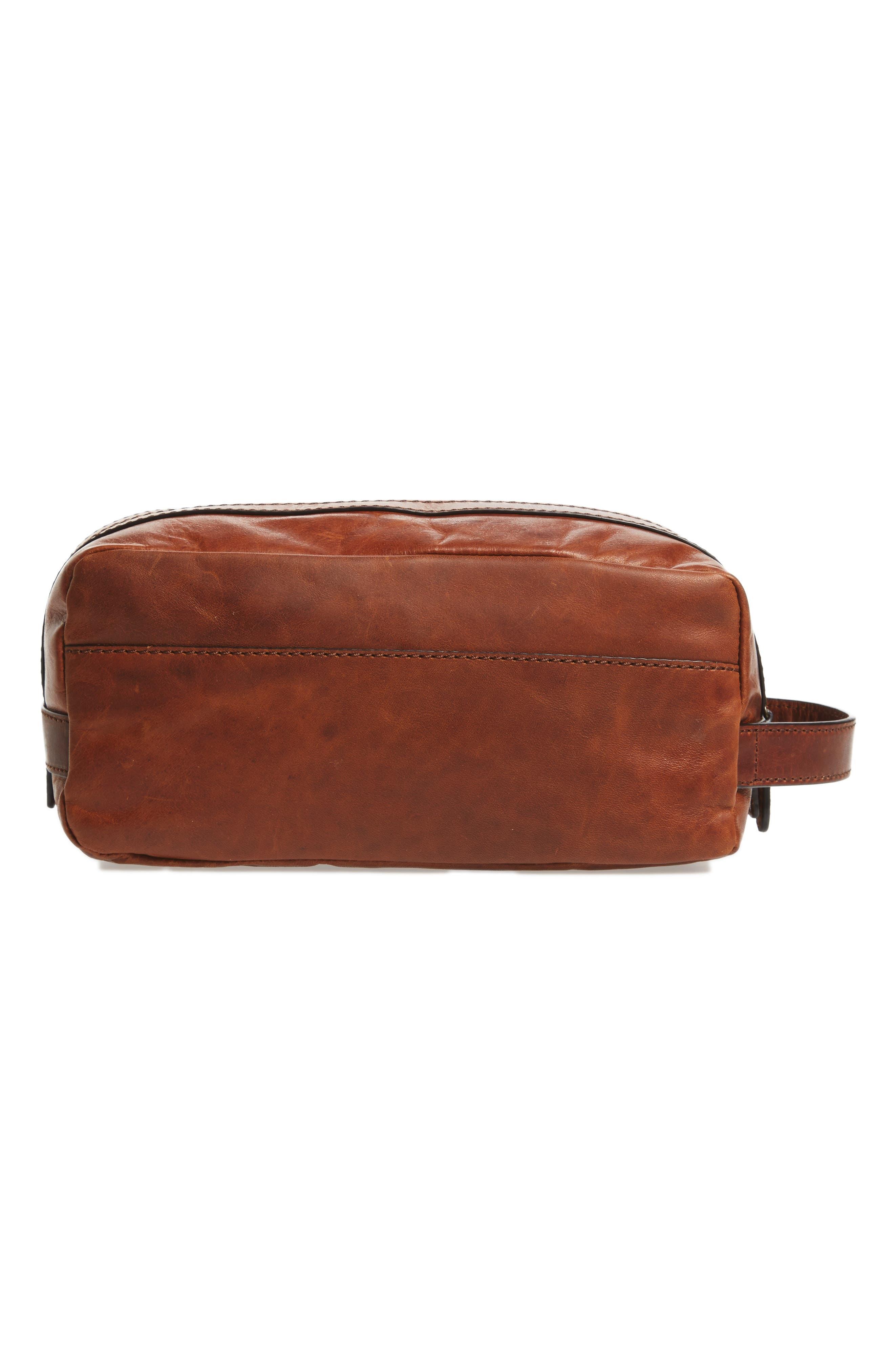 'Logan' Leather Travel Kit,                             Alternate thumbnail 2, color,                             Cognac