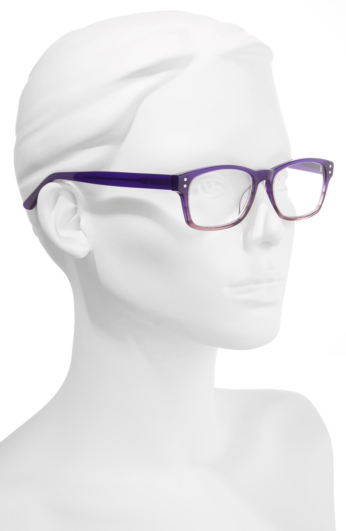 Edie 50mm Reading Glasses,                             Alternate thumbnail 2, color,                             Purple