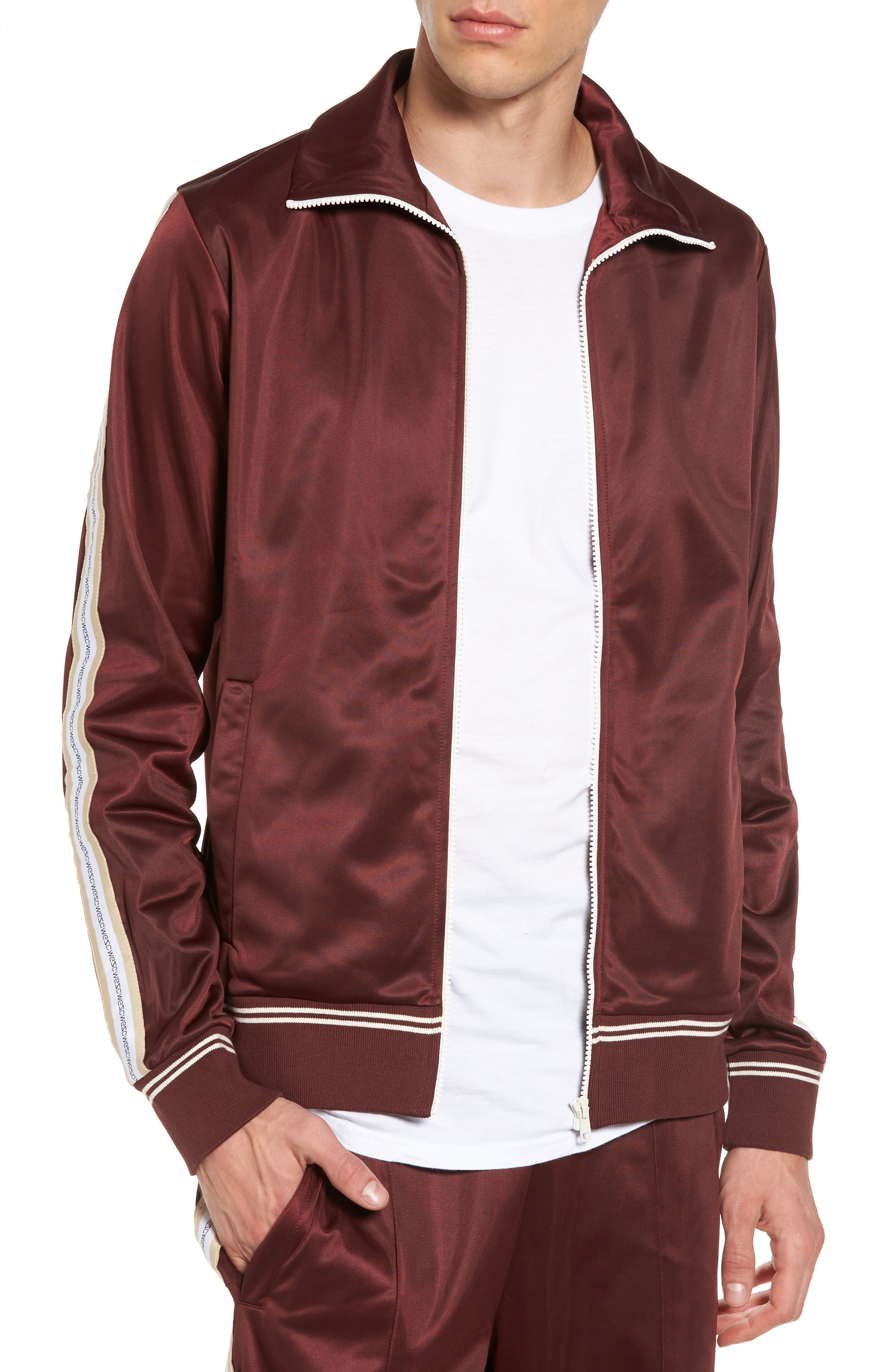 Marcus Track Jacket,                         Main,                         color, Red Port