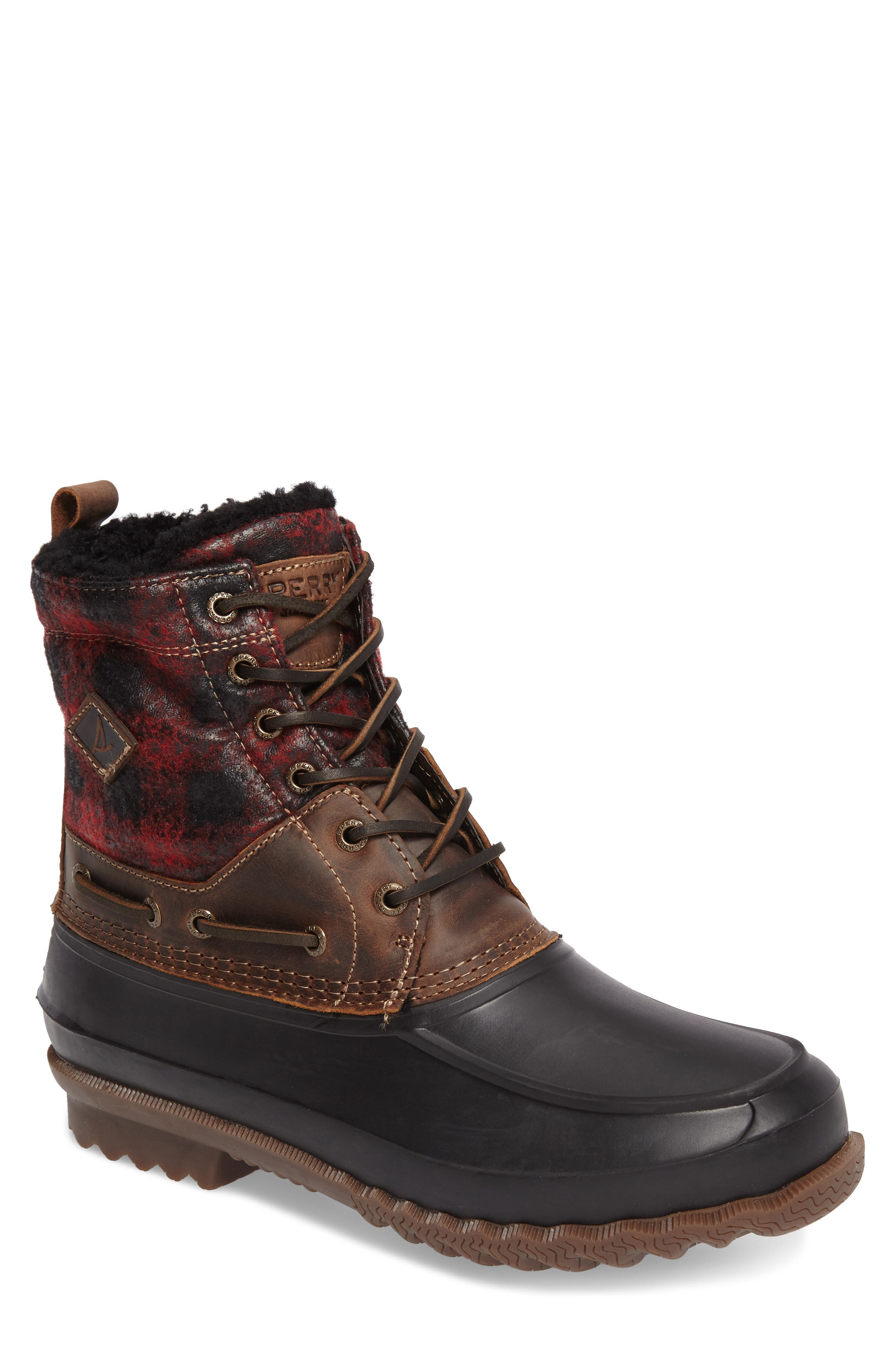 Sperry Decoy Moc Toe Boot with Genuine Shearling (Men)