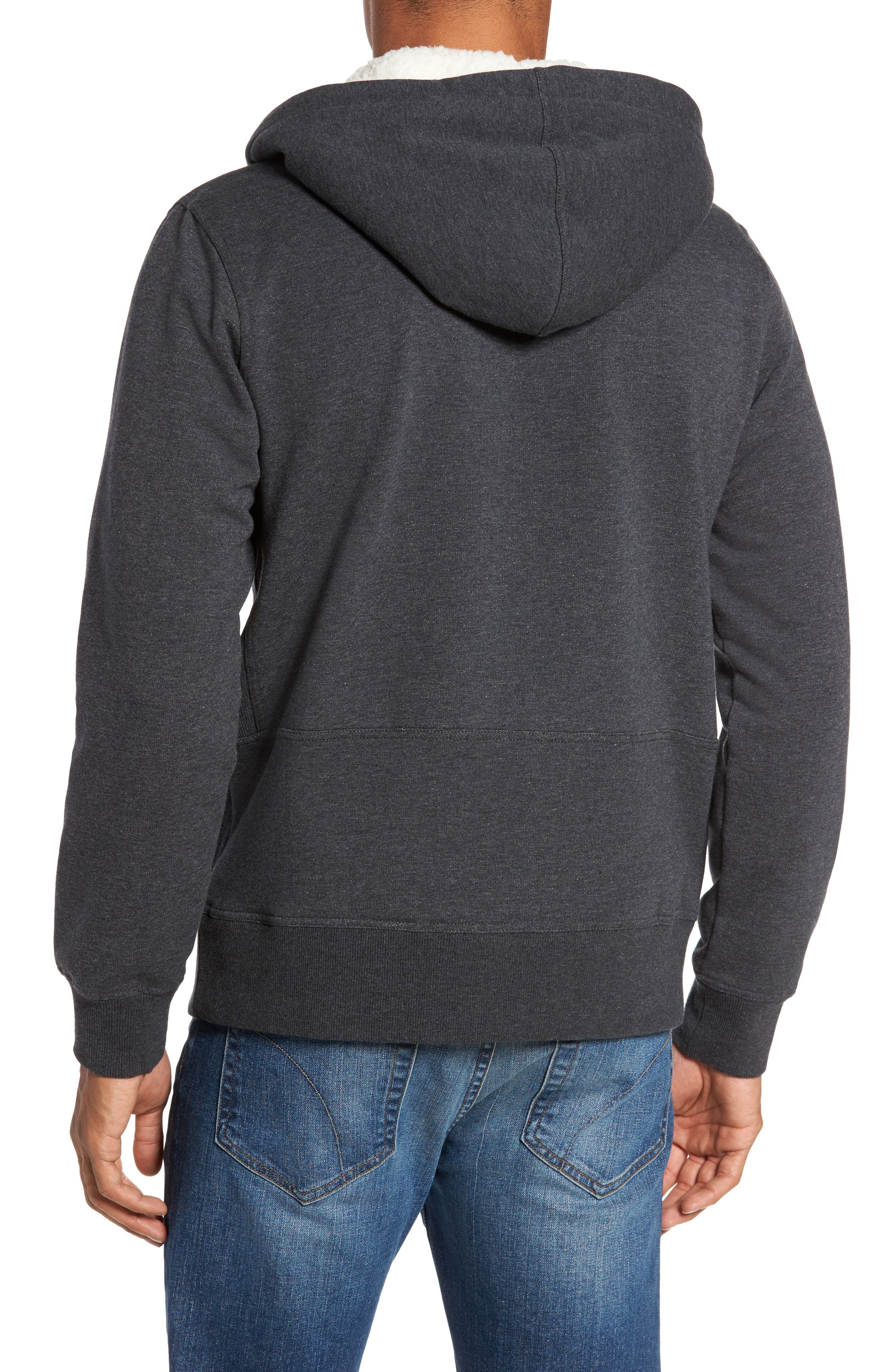 Fleece Lined Hoodie,                             Alternate thumbnail 2, color,                             Charcoal