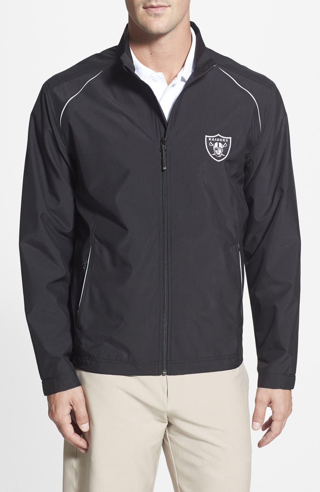 Oakland Raiders - Beacon WeatherTec Wind & Water Resistant Jacket,                         Main,                         color, Black