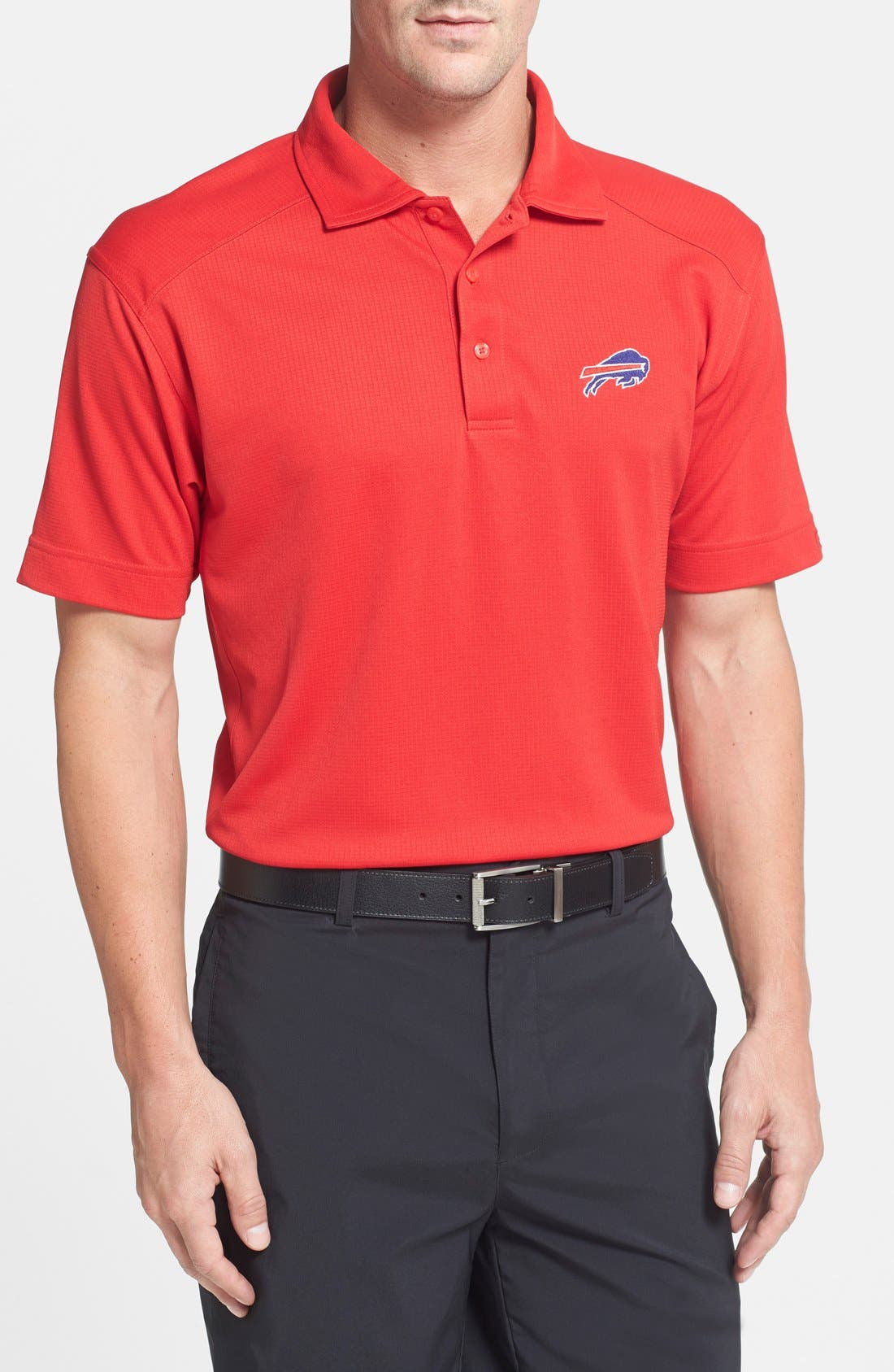 Cutter & Buck 'Buffalo Bills - Genre' DryTec Moisture Wicking Polo (Big & Tall)