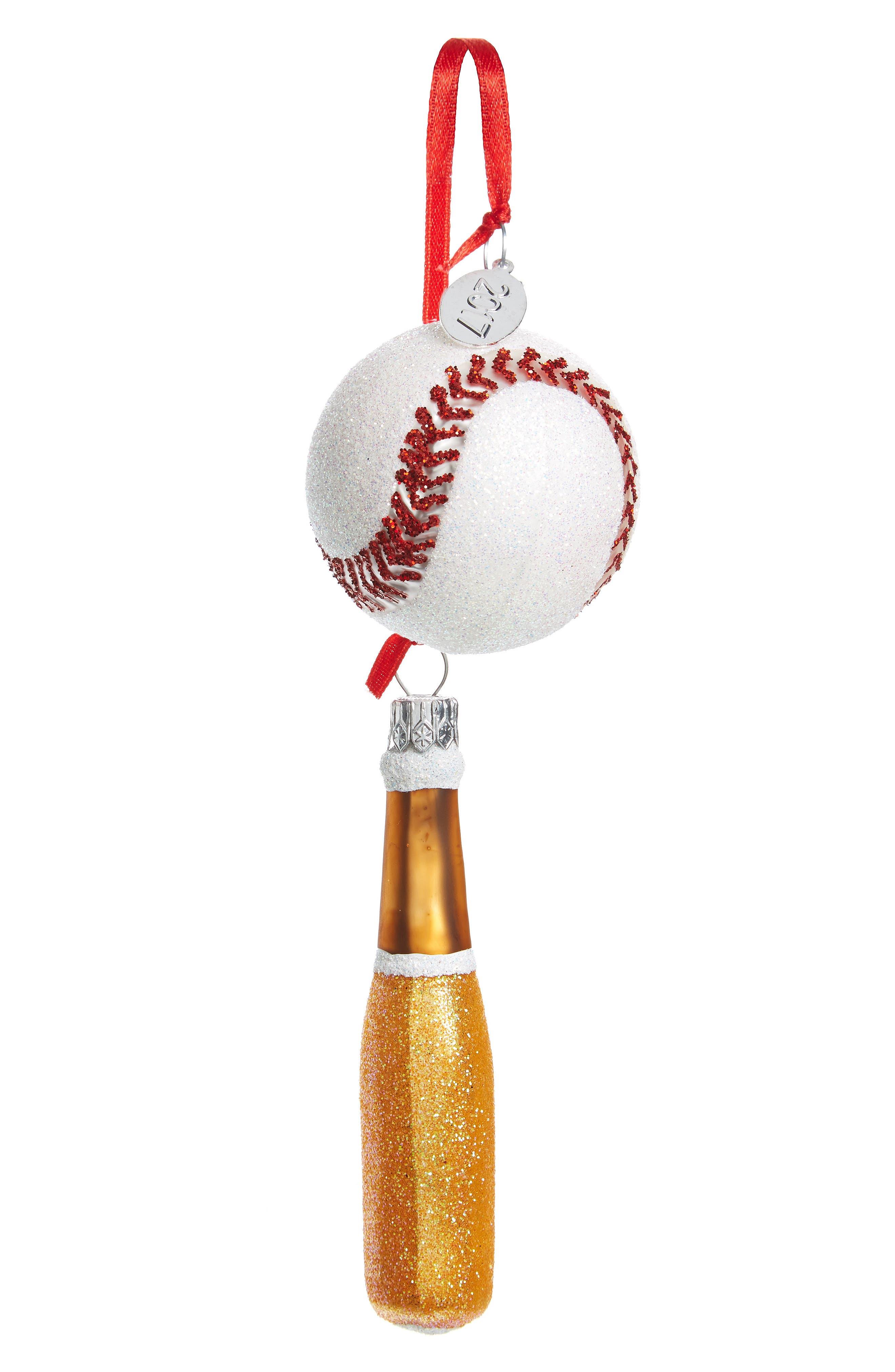 Alternate Image 1 Selected - Nordstrom at Home Mini Sport Glass Ornament Set