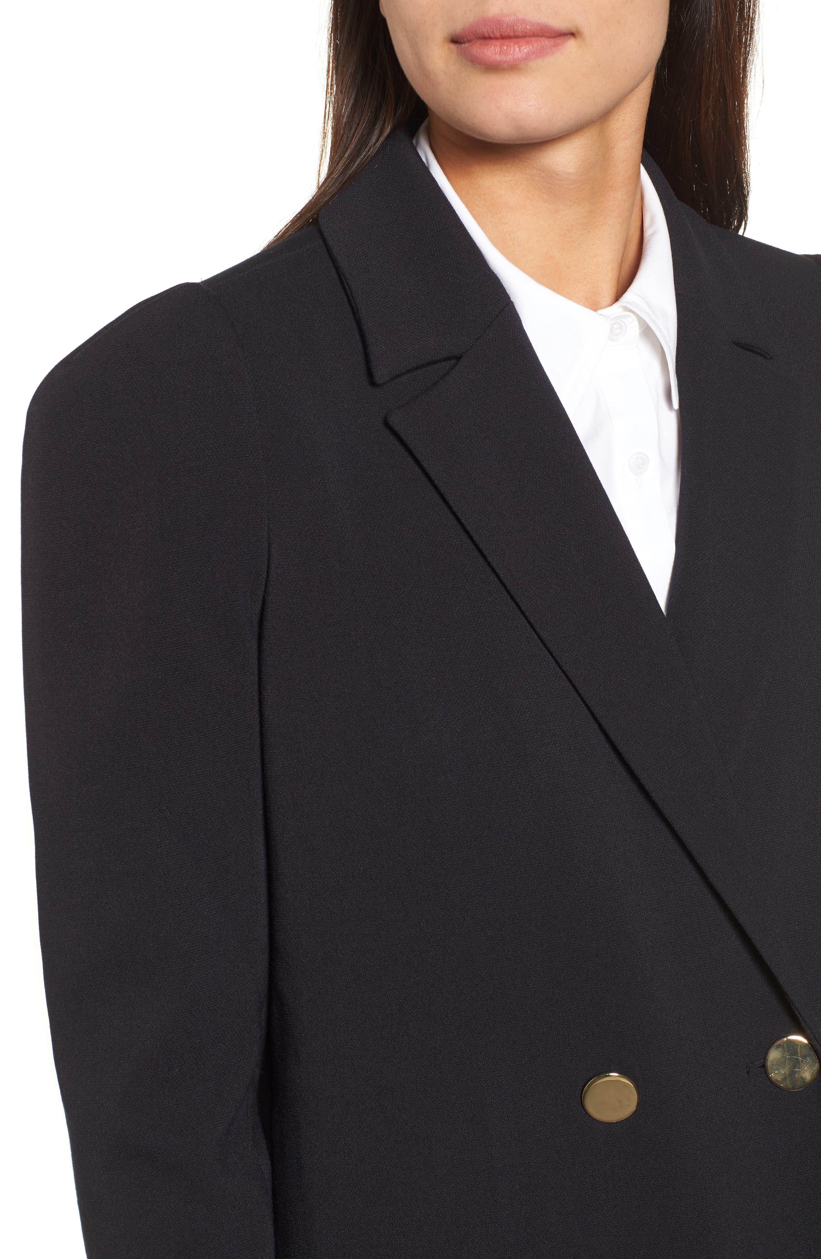 Double Breasted Blazer,                             Alternate thumbnail 4, color,                             Navy