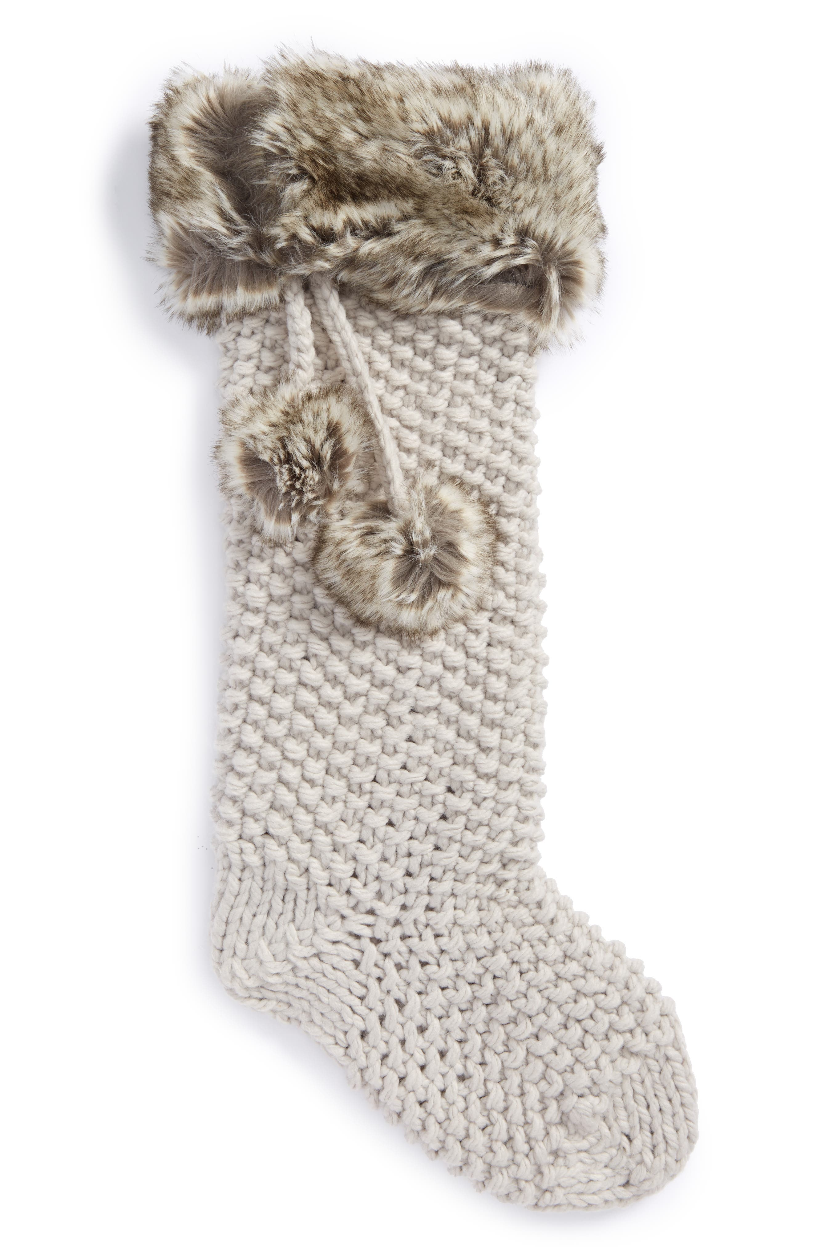 Nordstrom at Home Knit Faux Fur Stocking