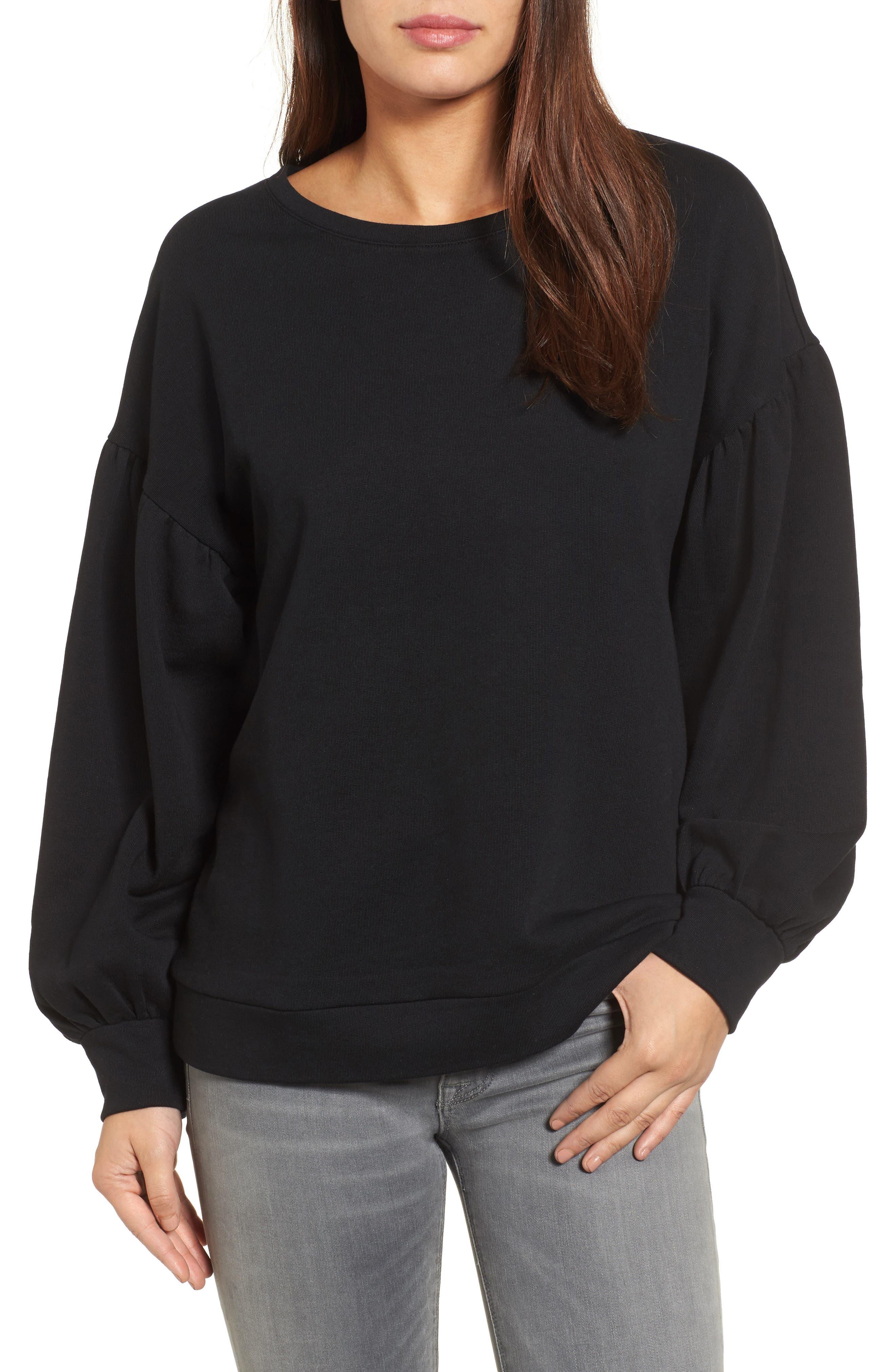 Halogen® Blouson Sleeve Sweatshirt (Regular & Petite)