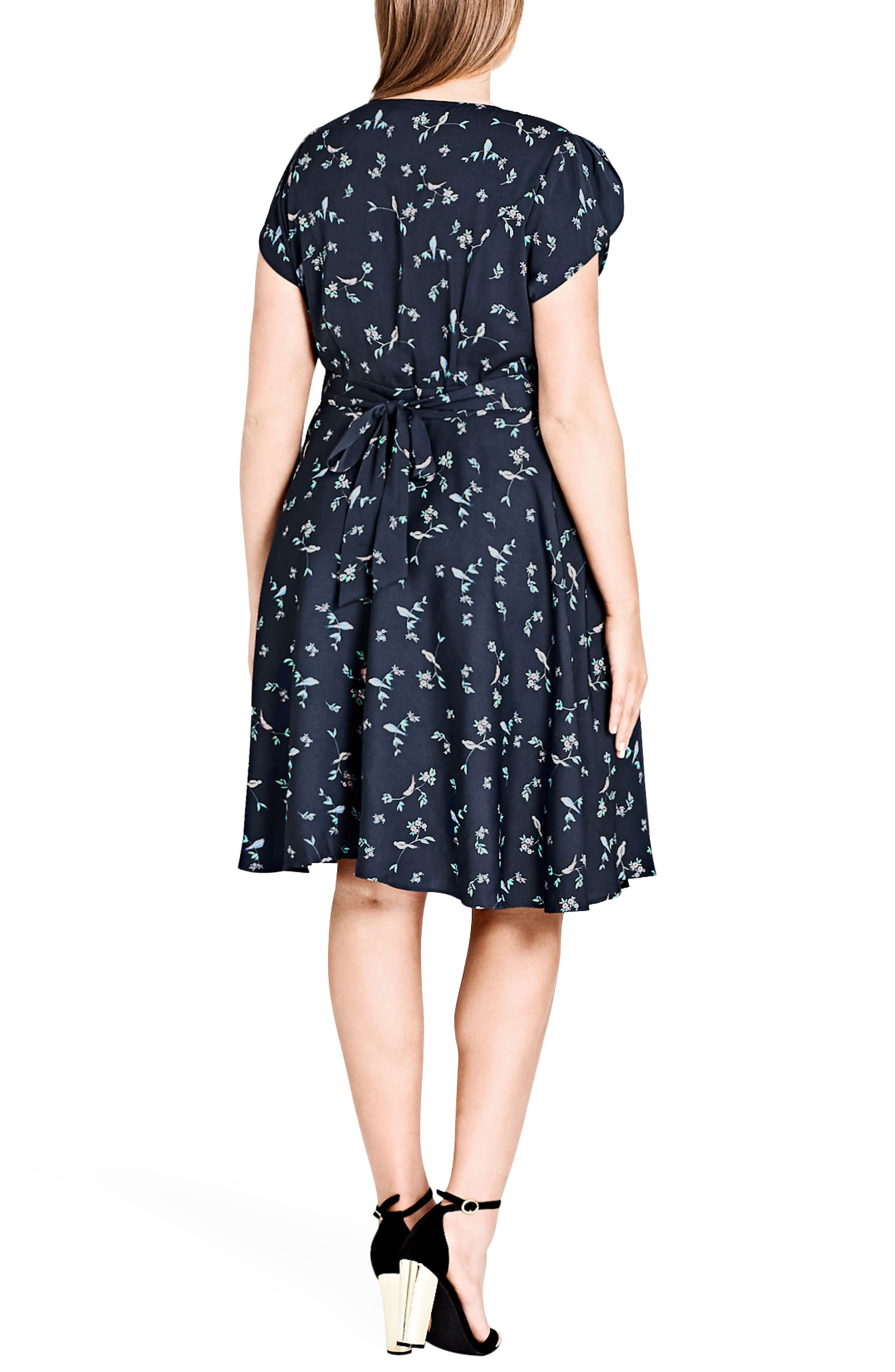 Alternate Image 2  - City Chic Sweet Tweet Fit & Flare Dress (Plus Size)