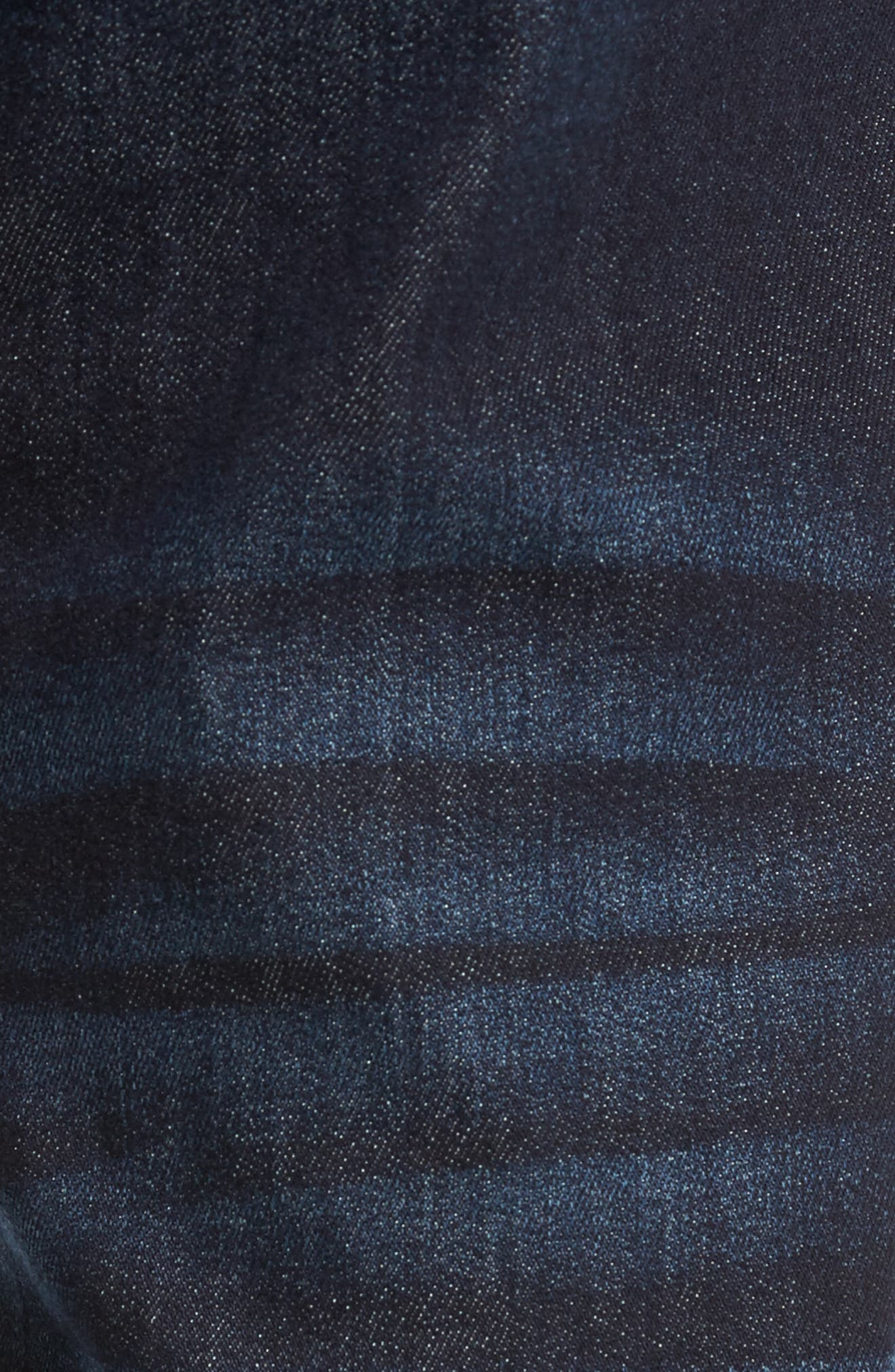Rocco Skinny Fit Jeans,                             Alternate thumbnail 5, color,                             Dark Indigo Luxe