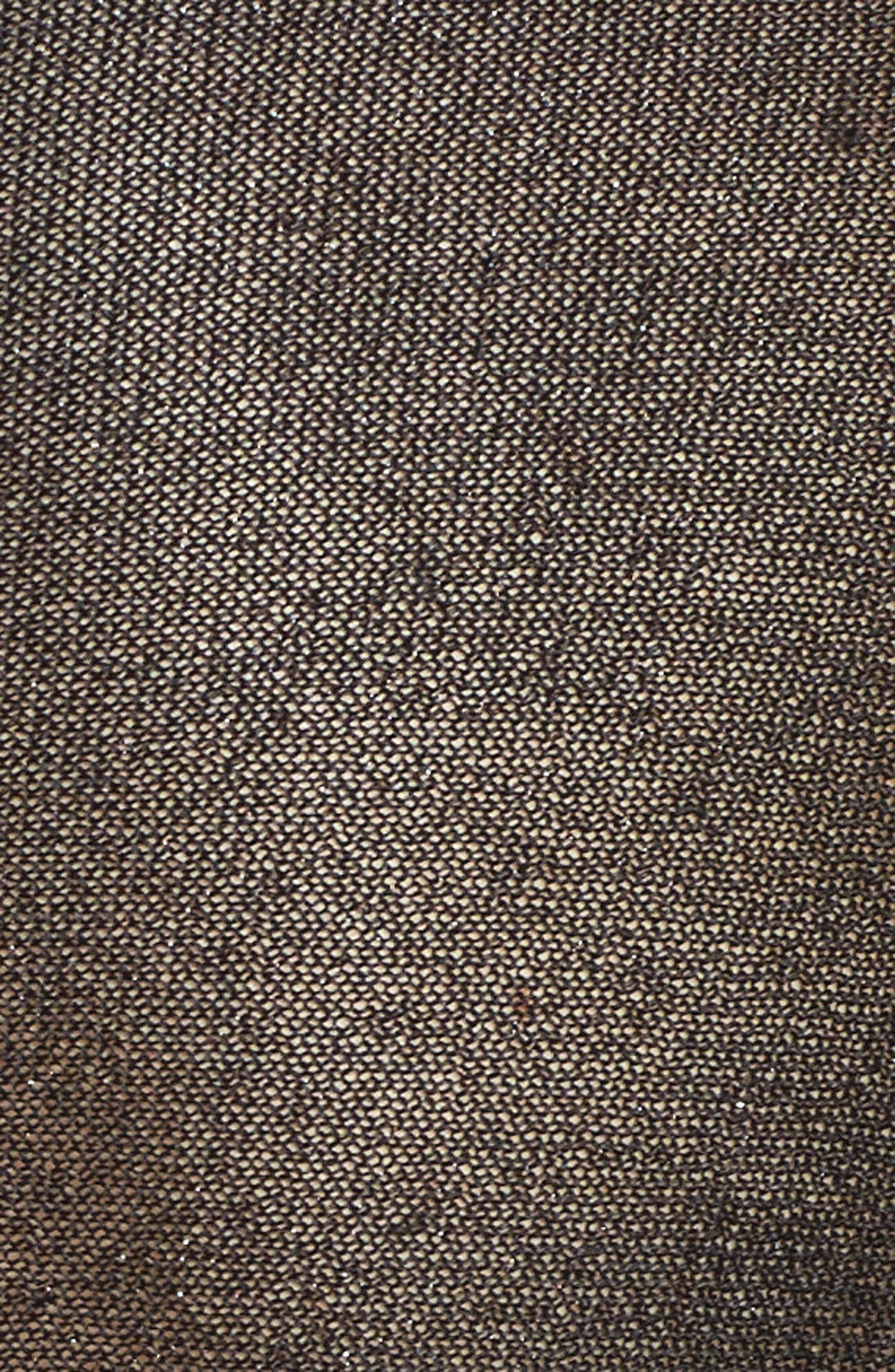 Metallic Knit Wrap,                             Alternate thumbnail 5, color,                             Black