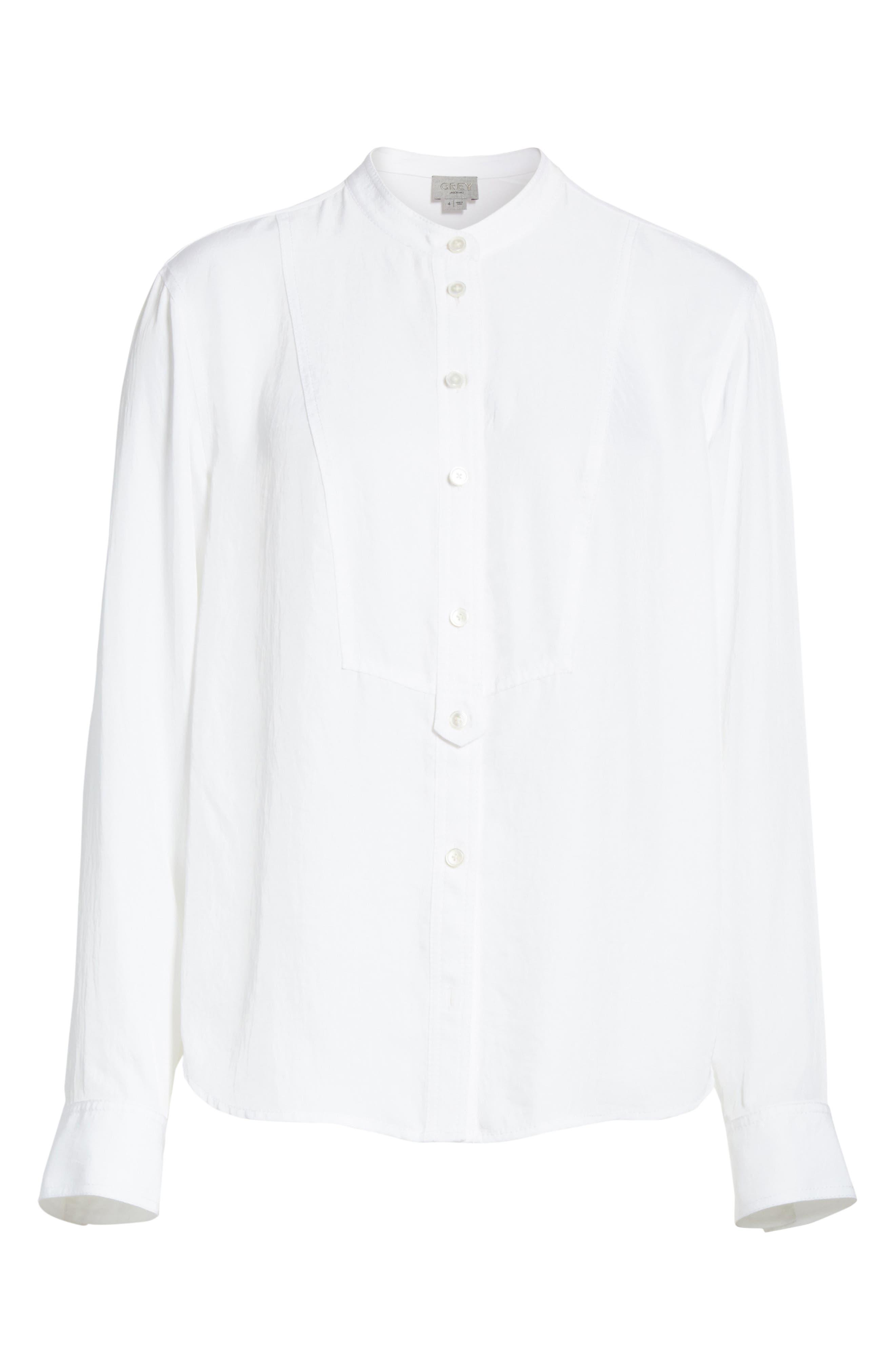 Twill Shirt,                             Alternate thumbnail 6, color,                             Star White