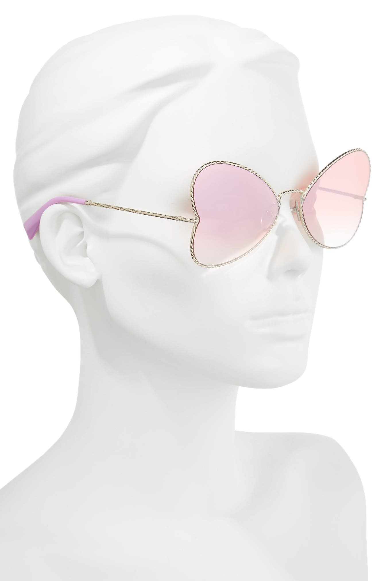 Alternate Image 2  - MARC JACOBS 60mm Heart Sunglasses
