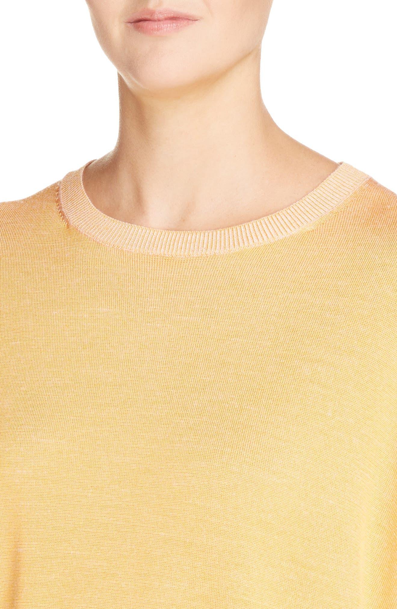 Finola 2-Tone Sweater,                             Alternate thumbnail 4, color,                             Orange
