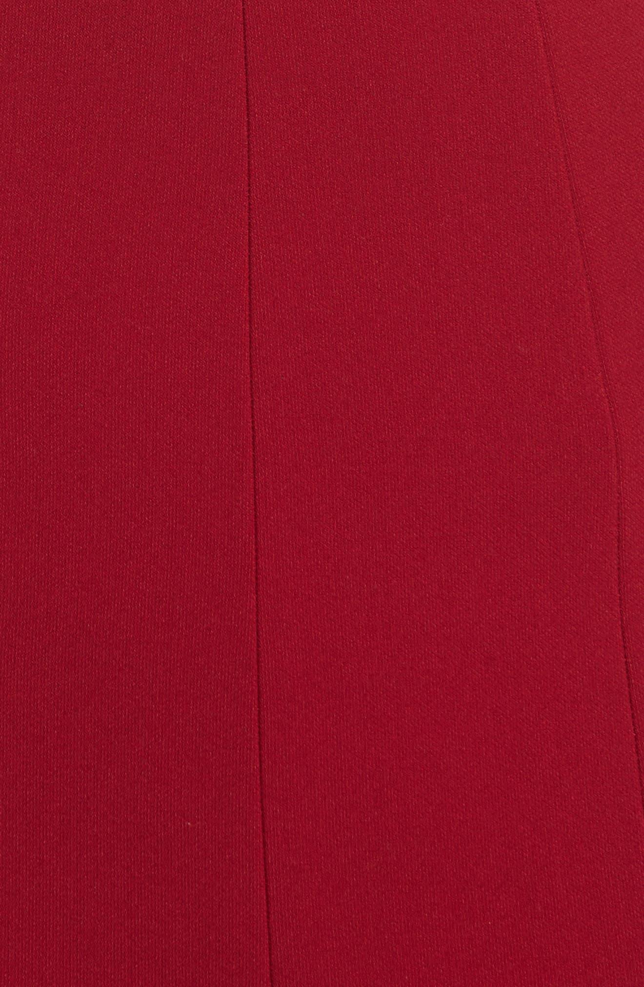 Rooney Flare Hem Dress,                             Alternate thumbnail 5, color,                             Ruby