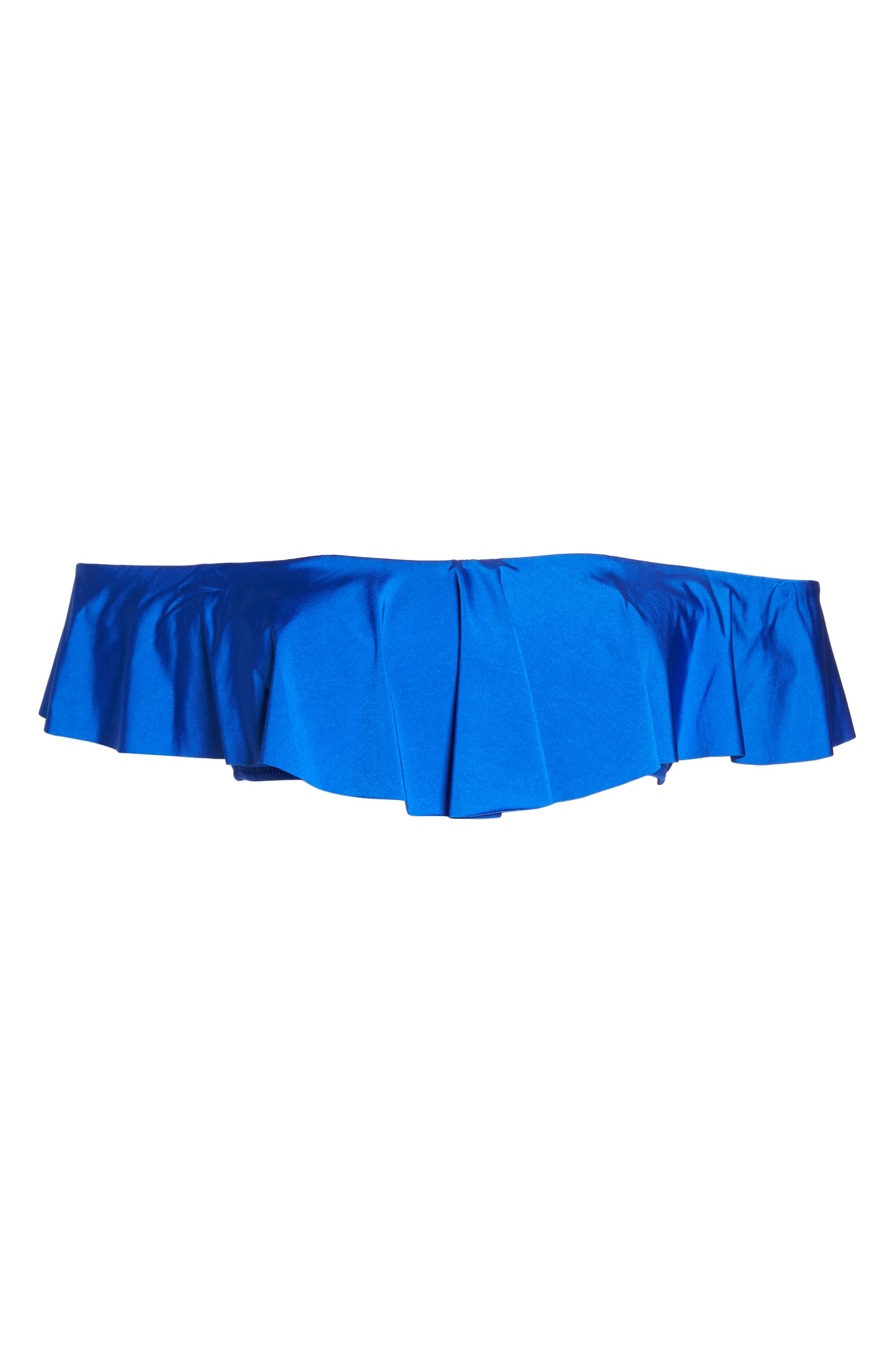 Flutter Bandeau Bikini Top,                             Alternate thumbnail 4, color,                             Sap