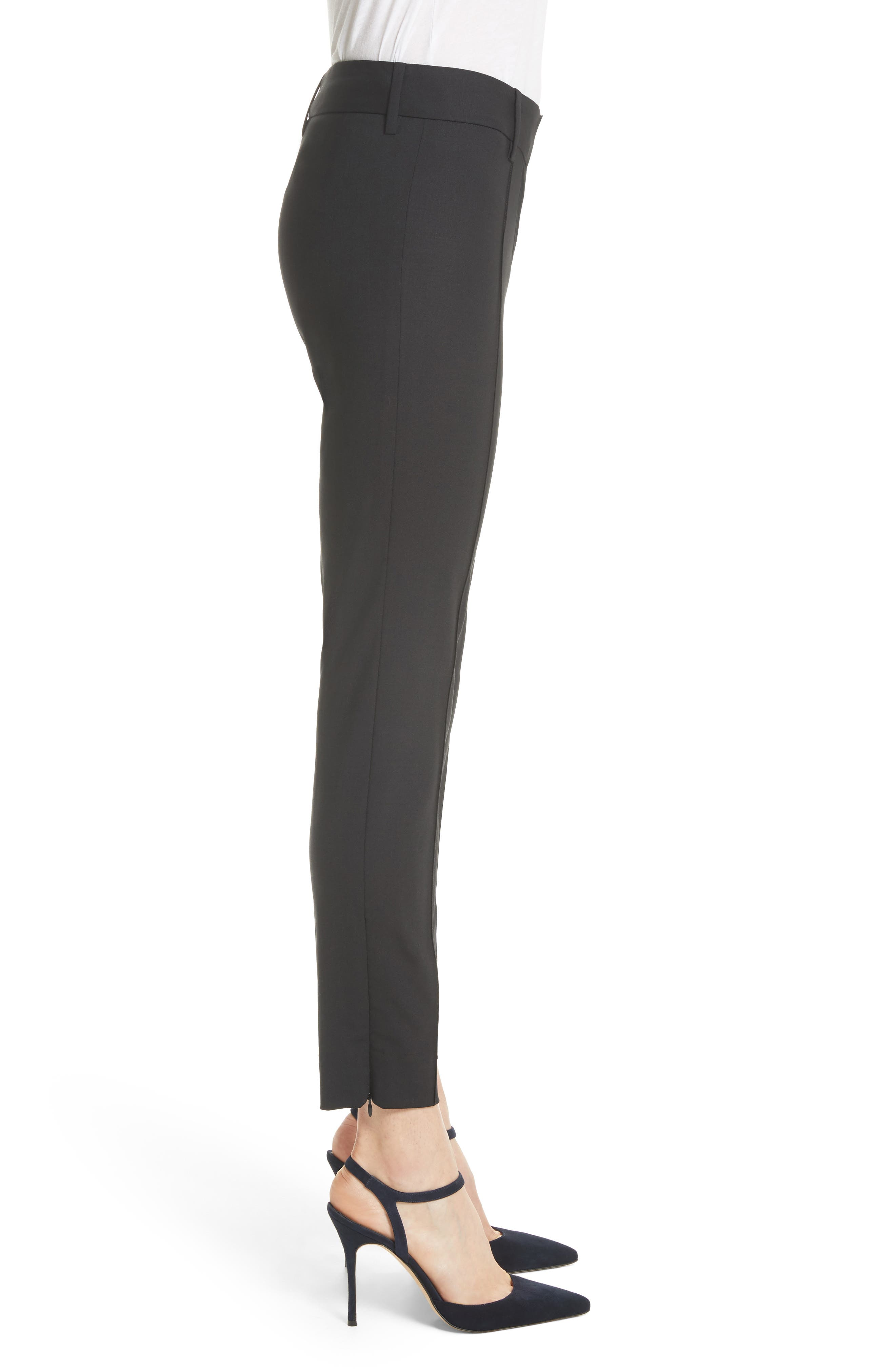 Nahla Ankle Pants,                             Alternate thumbnail 5, color,                             Black