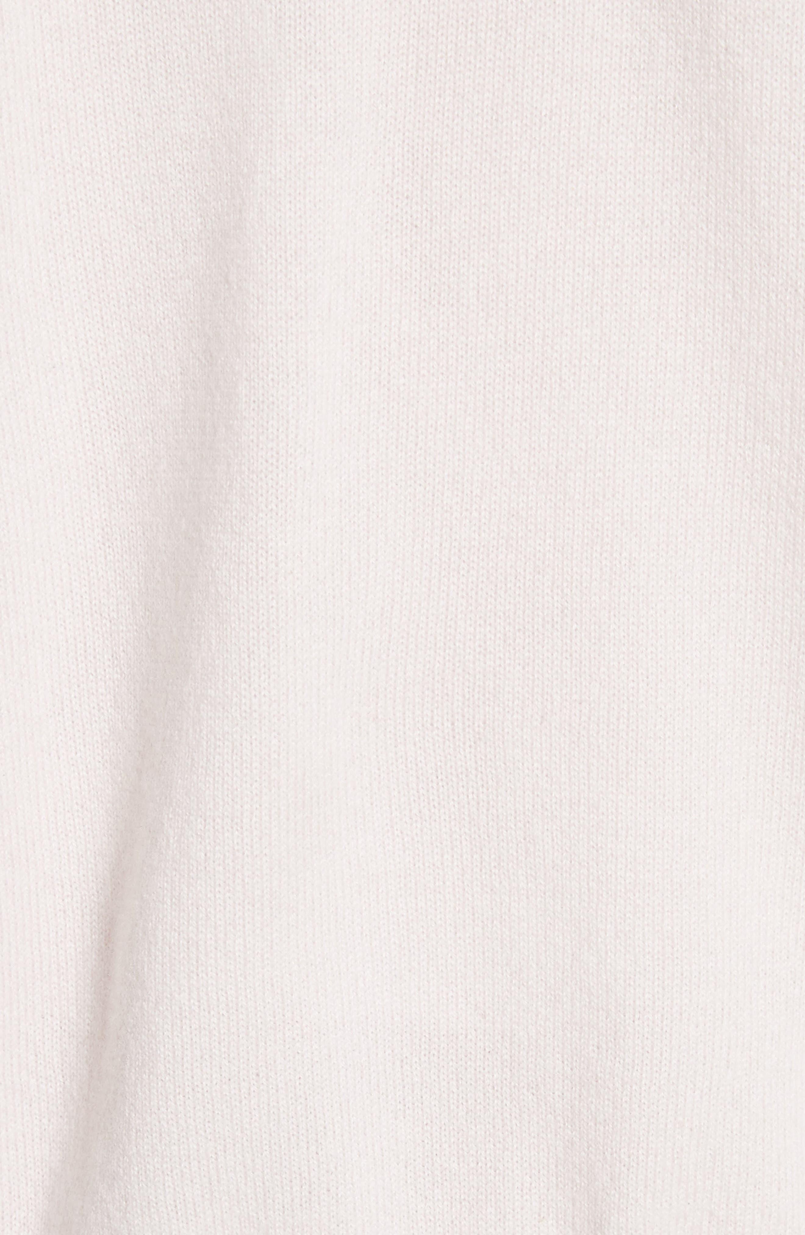 Elisha Cashmere Zip Front Hoodie,                             Alternate thumbnail 6, color,                             Blush
