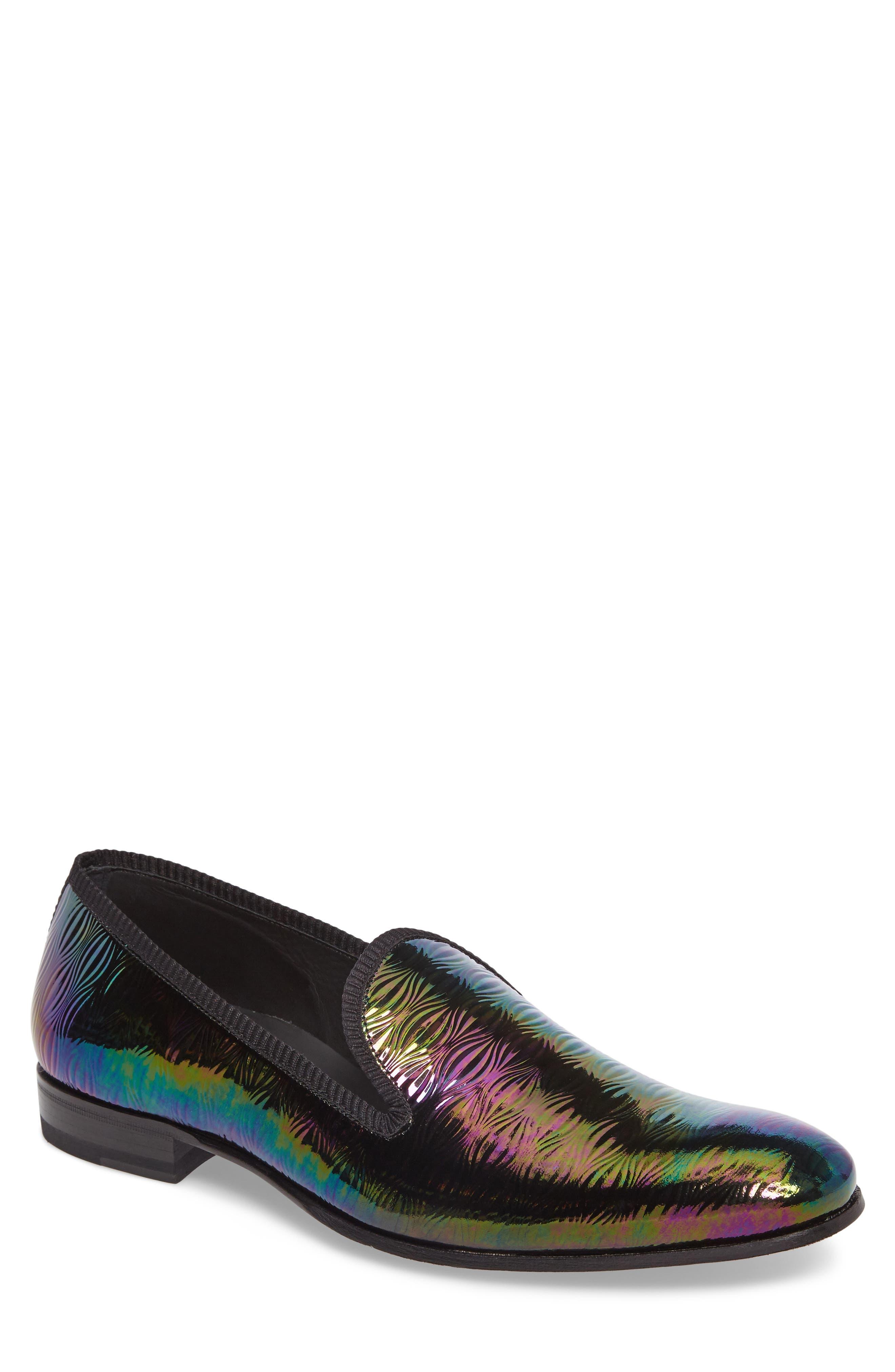 Duque Venetian Loafer,                             Main thumbnail 1, color,                             Black Leather